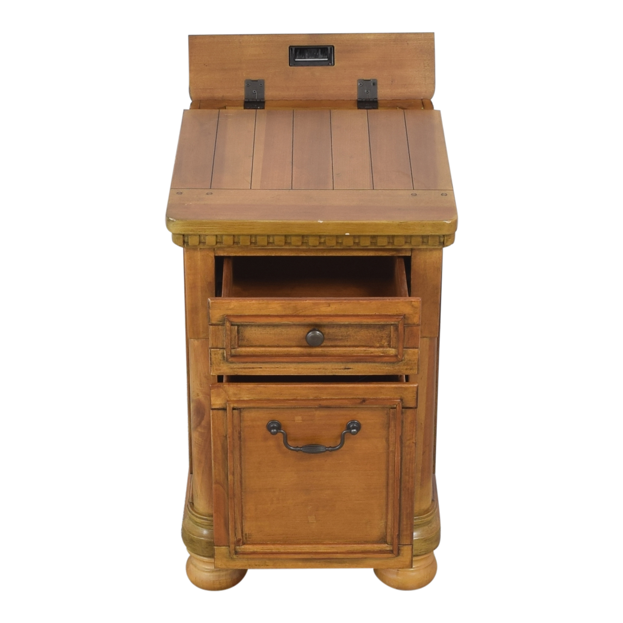 Two Drawer End Table discount