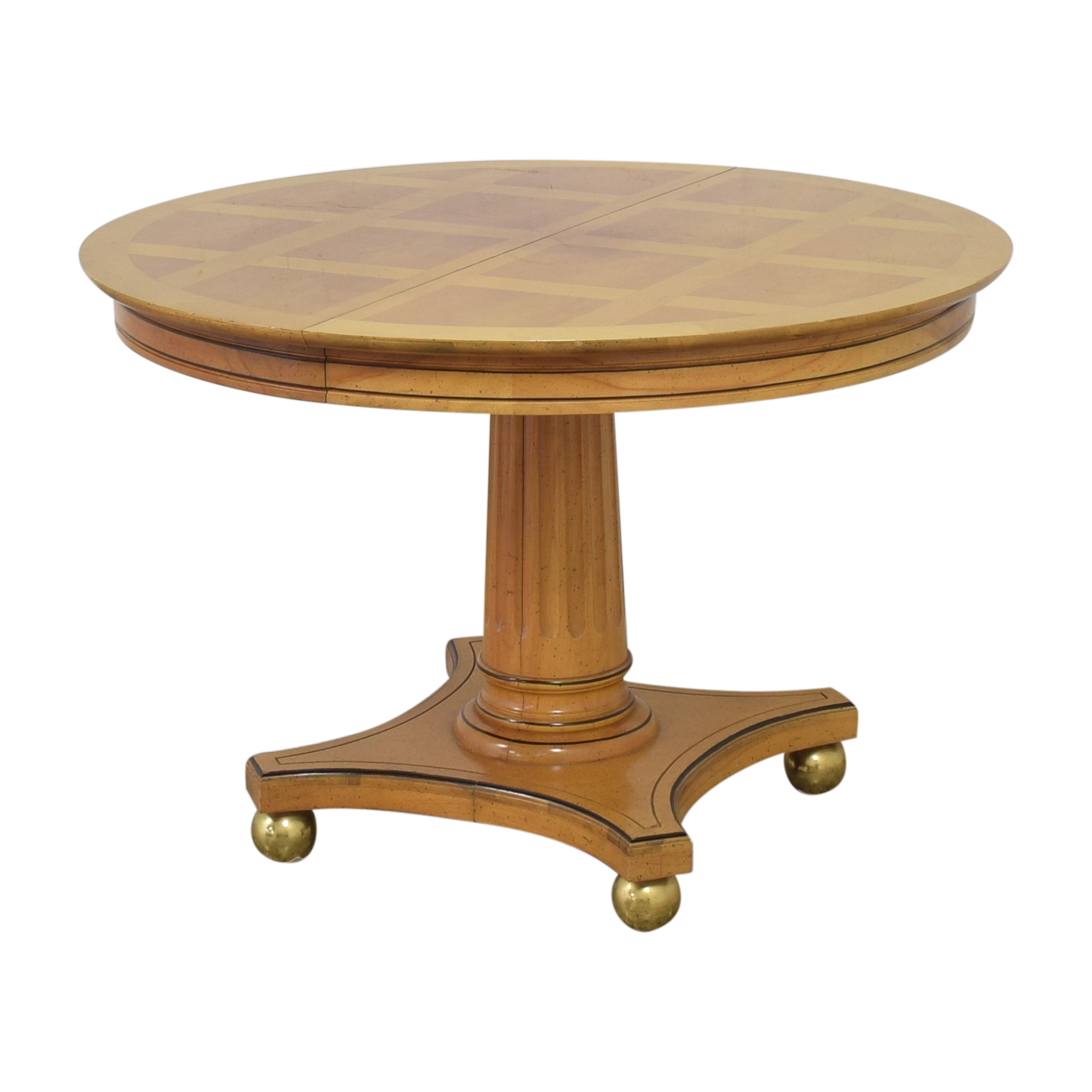 Jefferson Wood Working Jefferson Wood Working Extendable Round Dining Table on sale