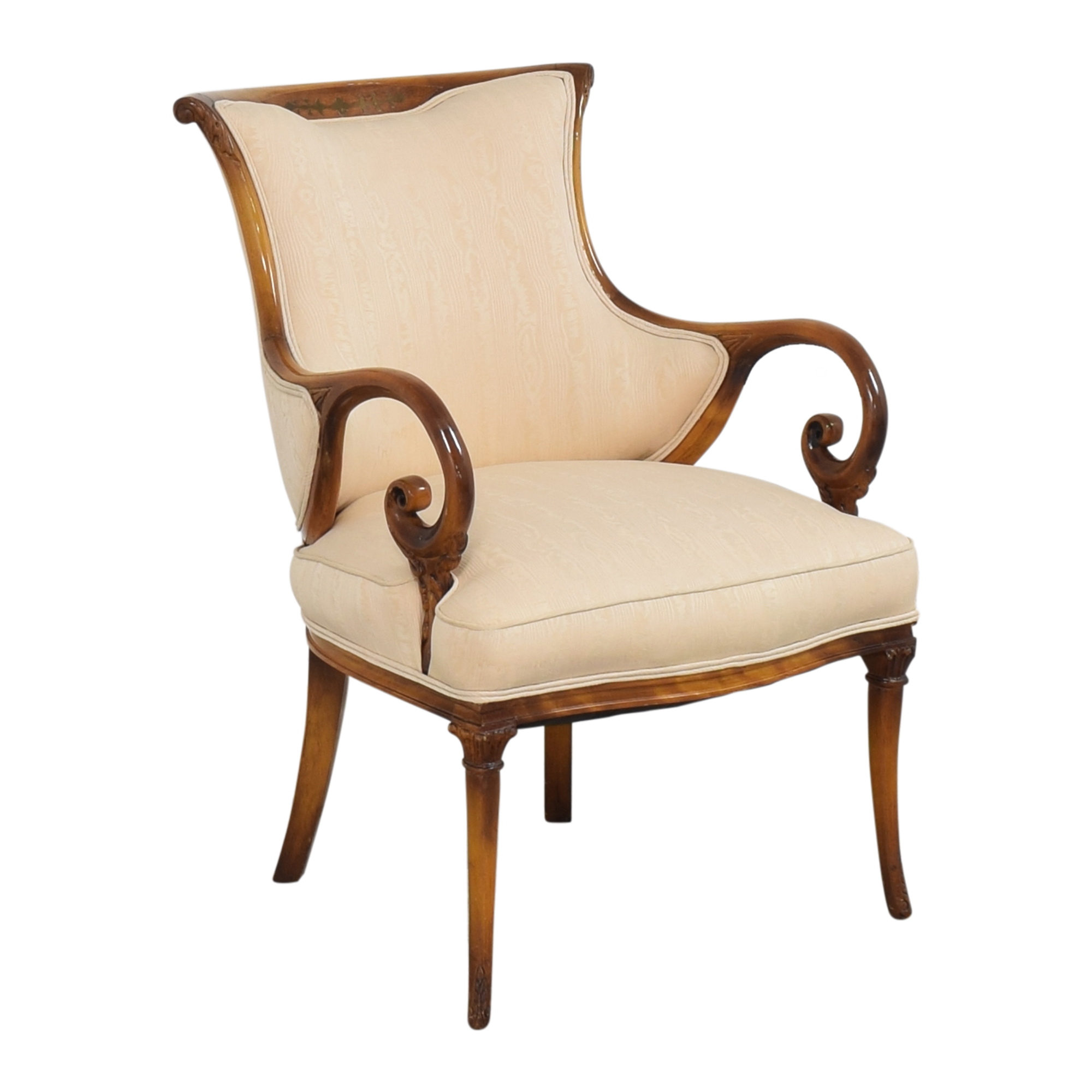 Decorative Upholstered Arm Chair brown and beige