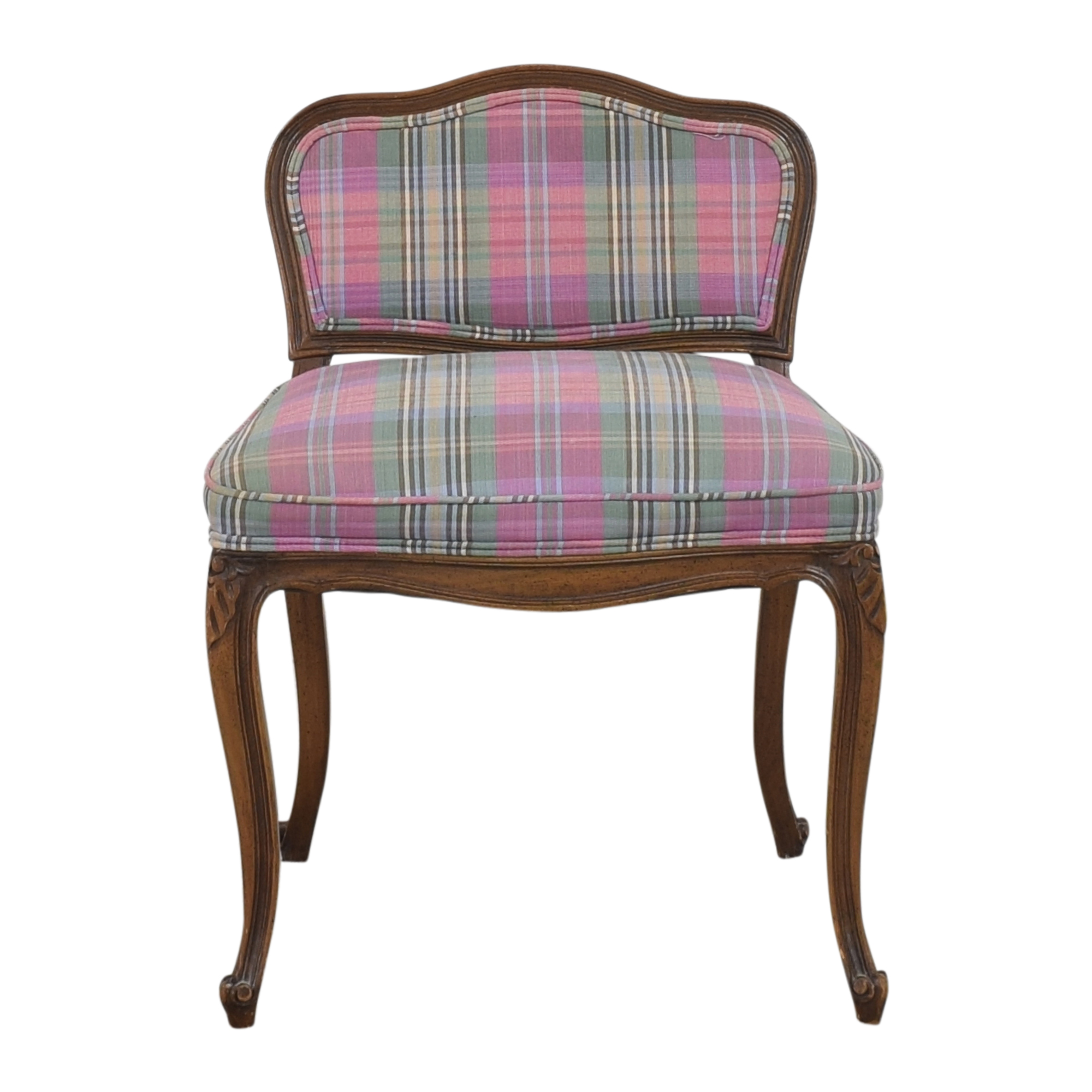 shop Plaid Vanity Stool  Accent Chairs