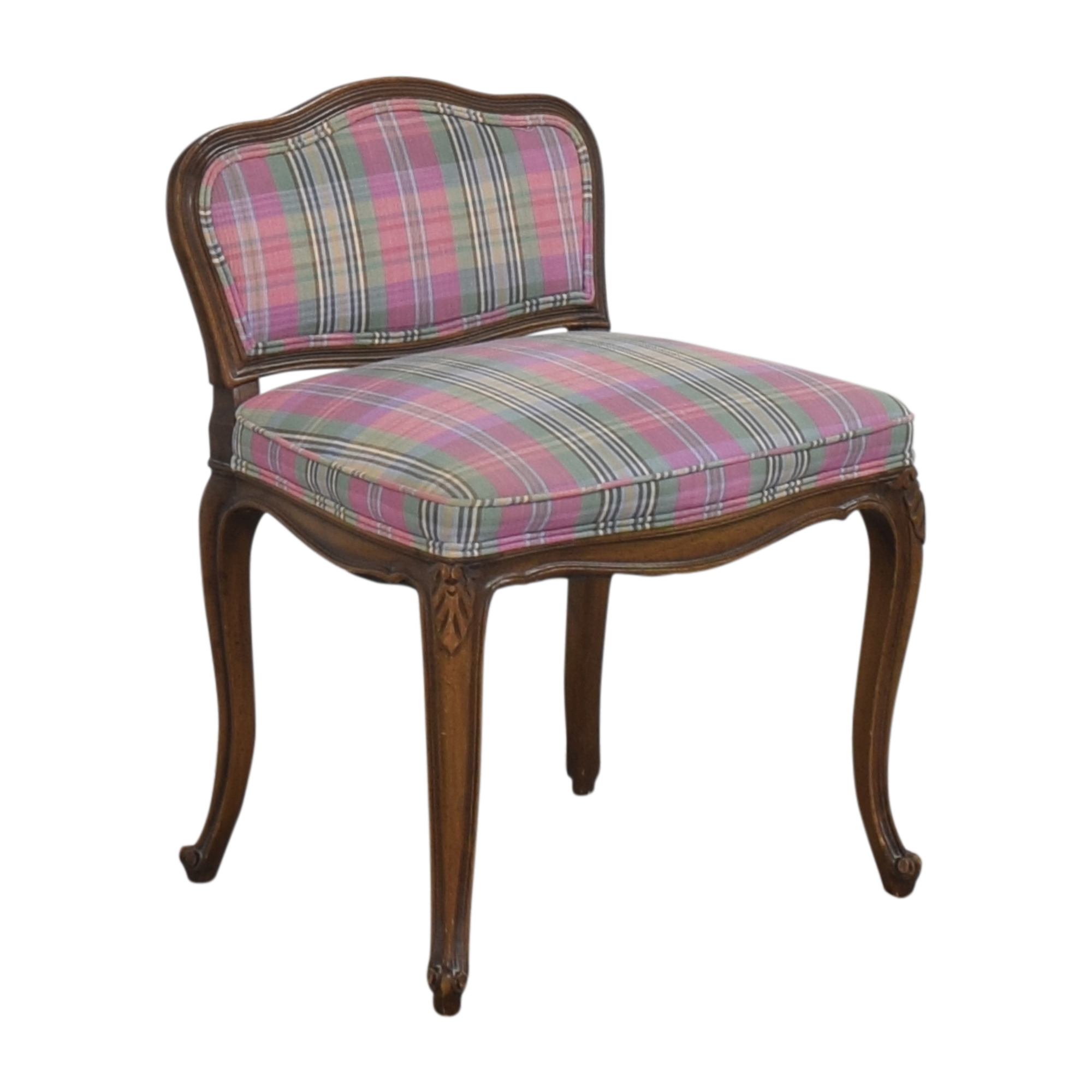buy Plaid Vanity Stool  Accent Chairs