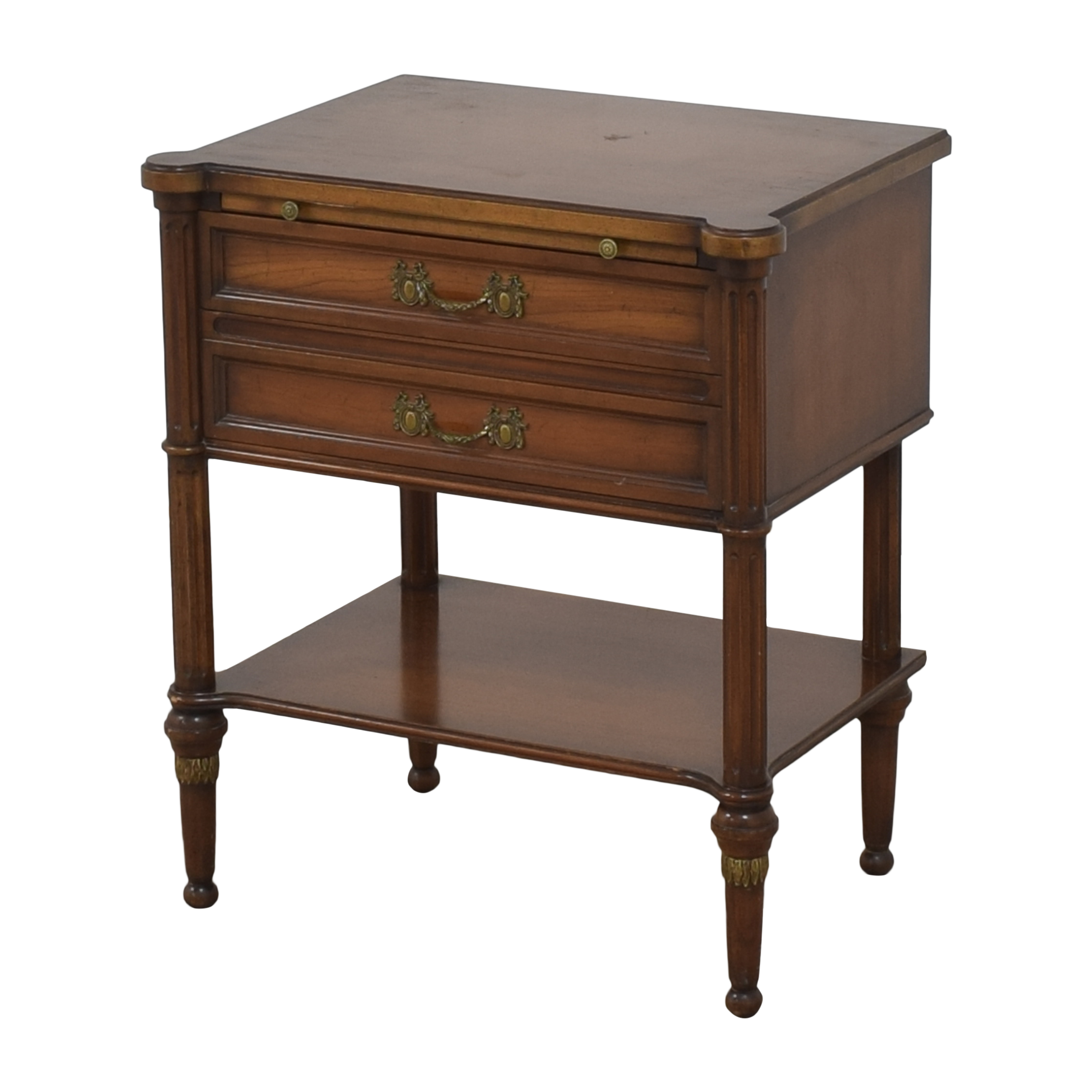 Two Drawer Nightstand used
