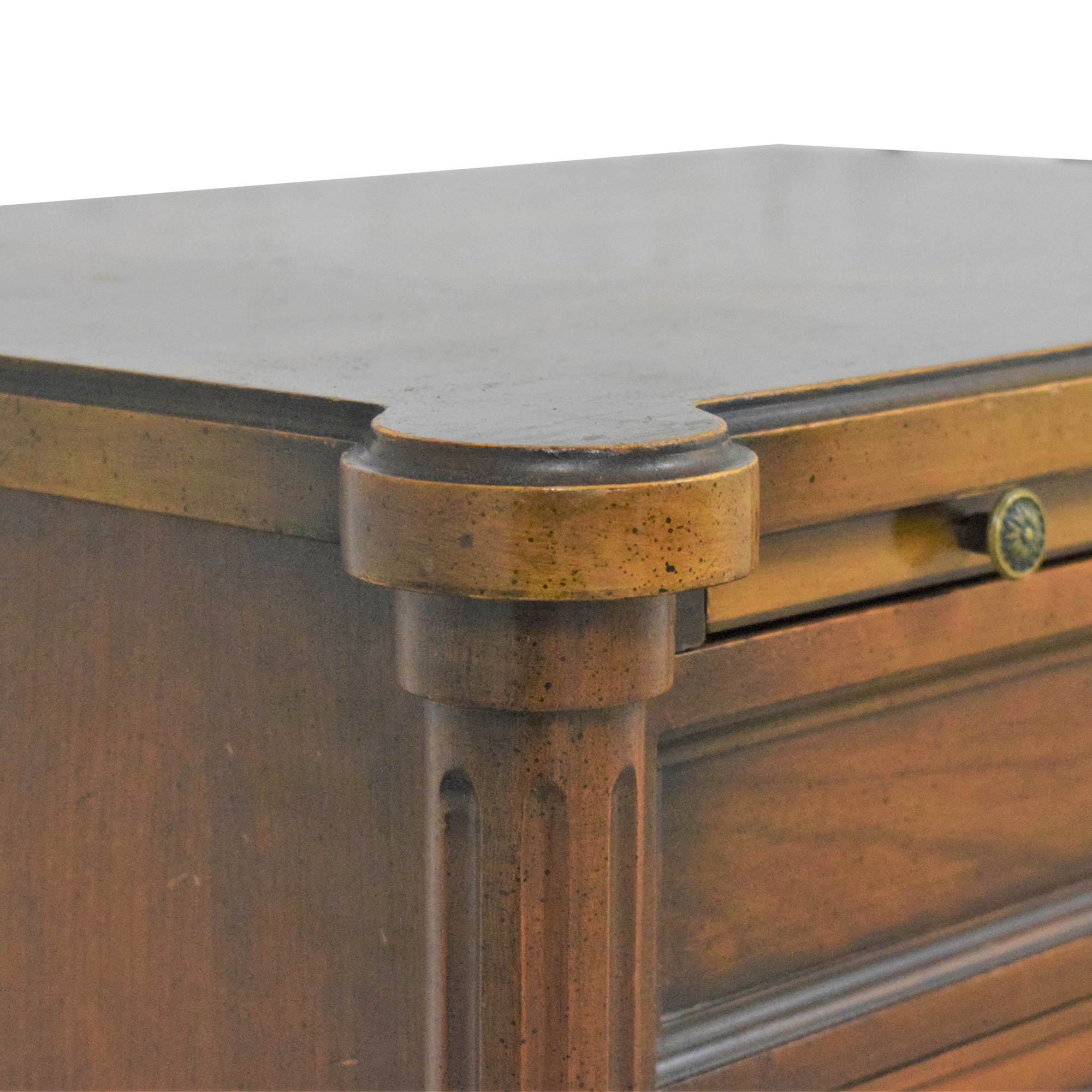 buy Two Drawer End Table with Desk Extension