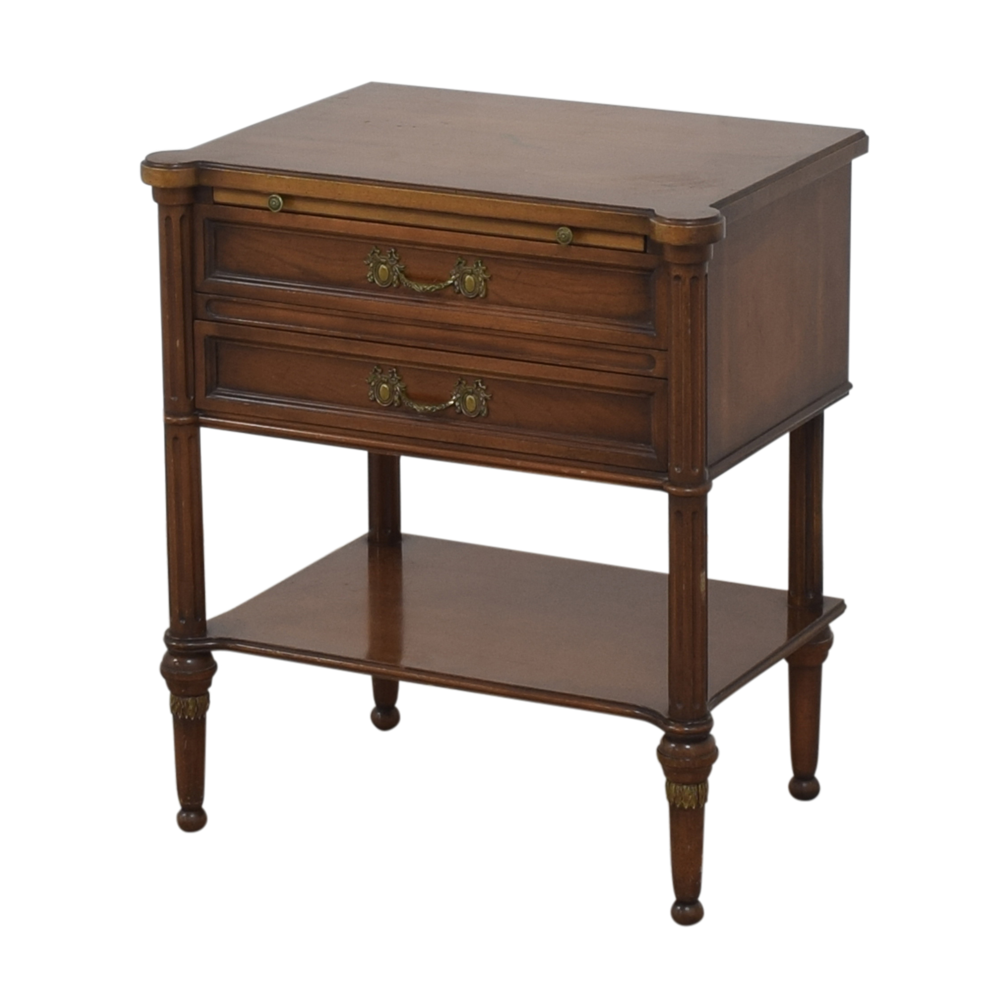 Two Drawer End Table with Desk Extension used