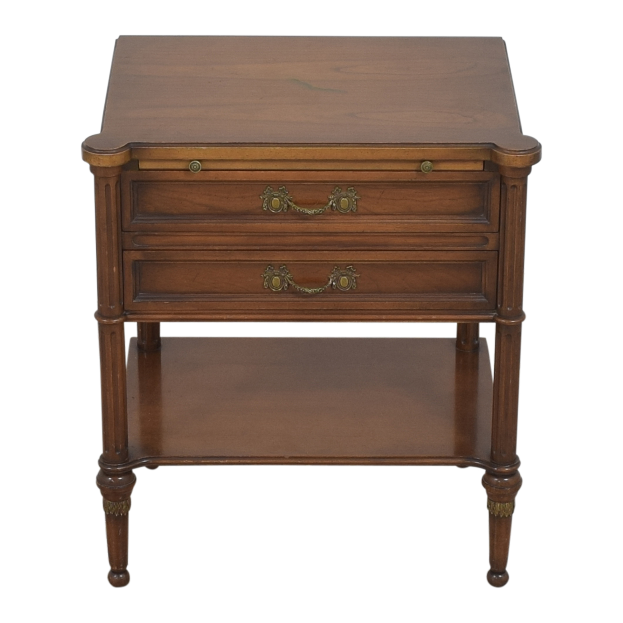 Two Drawer End Table with Desk Extension / Tables