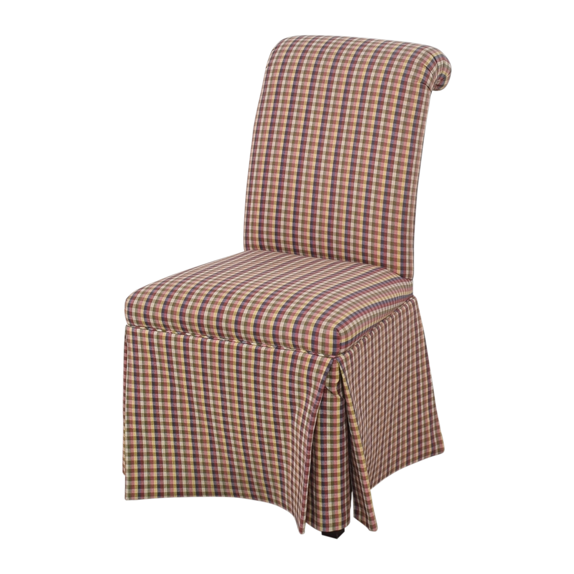 Sherrill Furniture Slipcovered Scroll Top Dining Chairs / Chairs