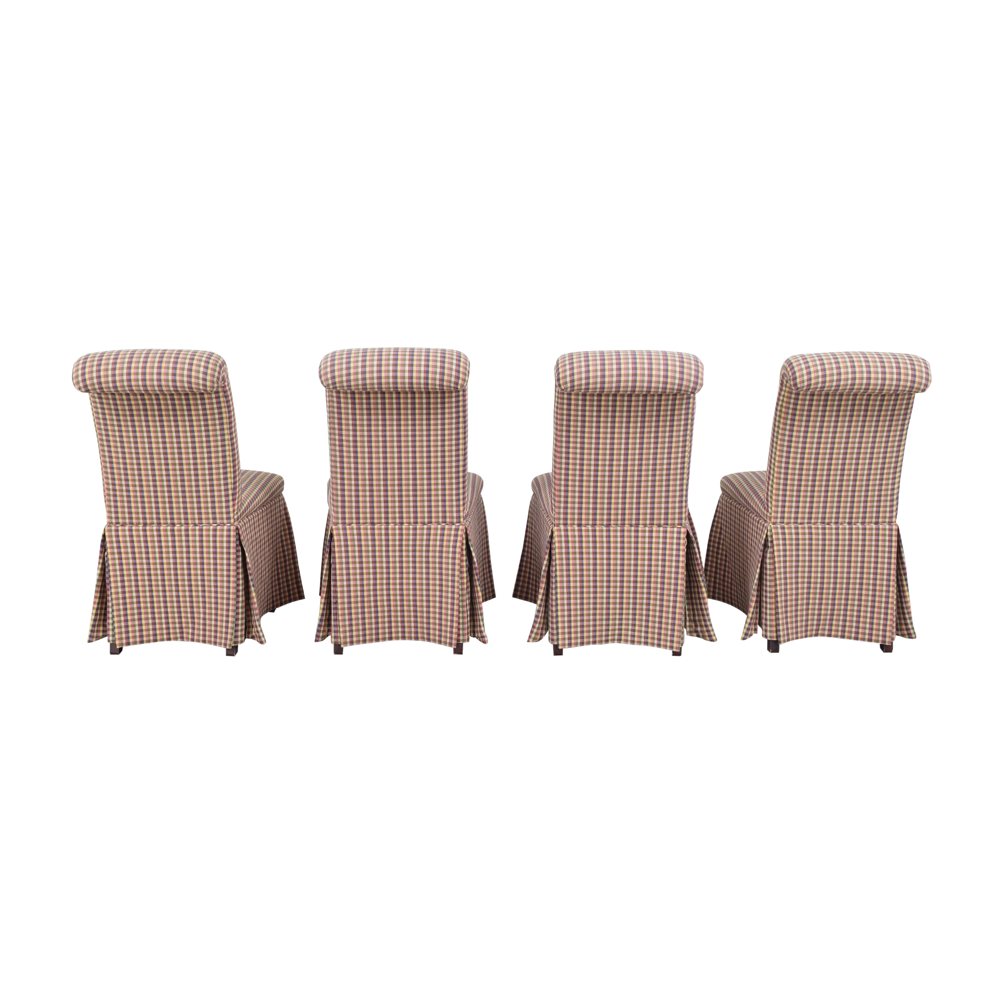 Sherrill Furniture Slipcovered Scroll Top Dining Chairs / Dining Chairs