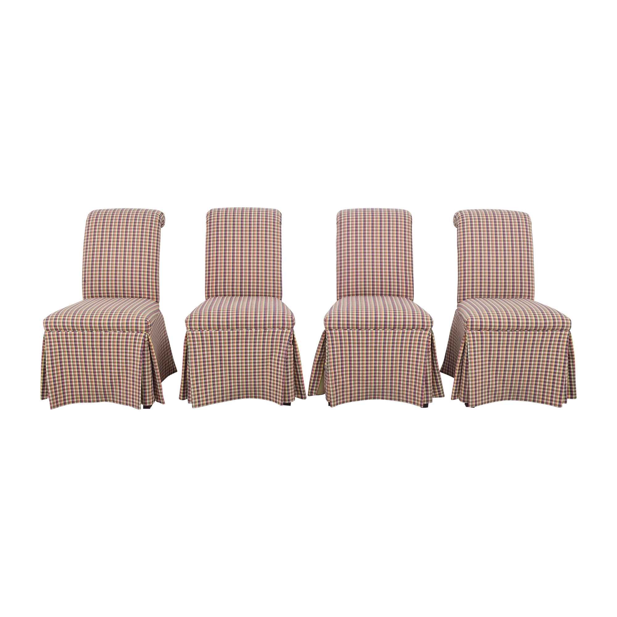 buy Sherrill Furniture Slipcovered Scroll Top Dining Chairs Sherrill Furniture