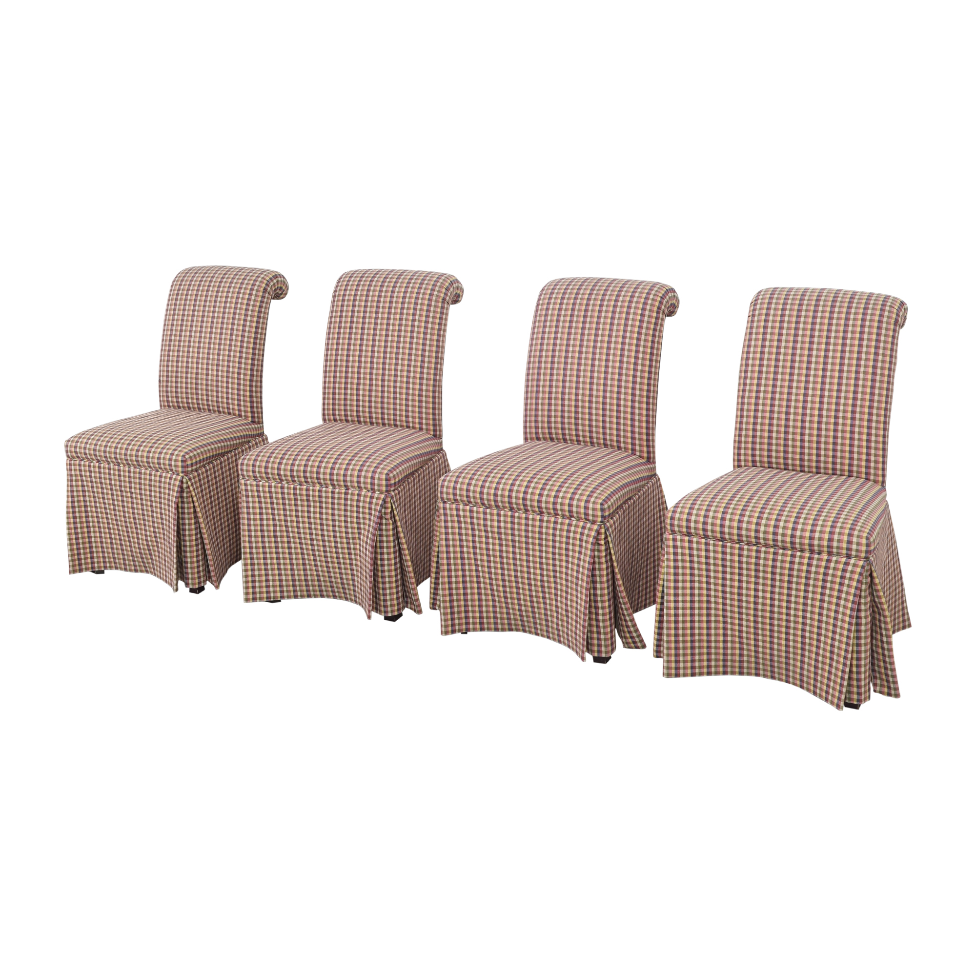 Sherrill Furniture Sherrill Furniture Slipcovered Scroll Top Dining Chairs pa