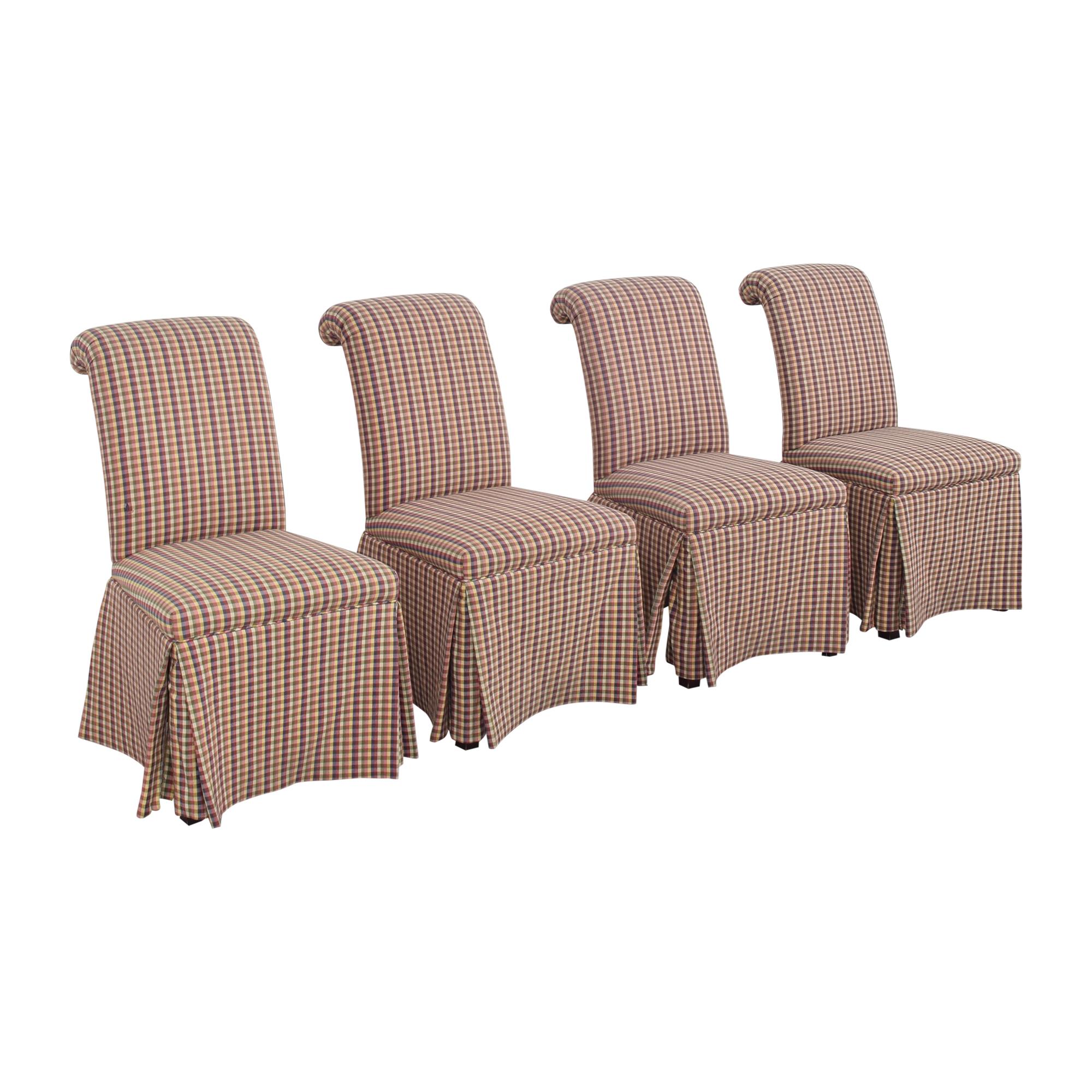 Sherrill Furniture Sherrill Furniture Slipcovered Scroll Top Dining Chairs price