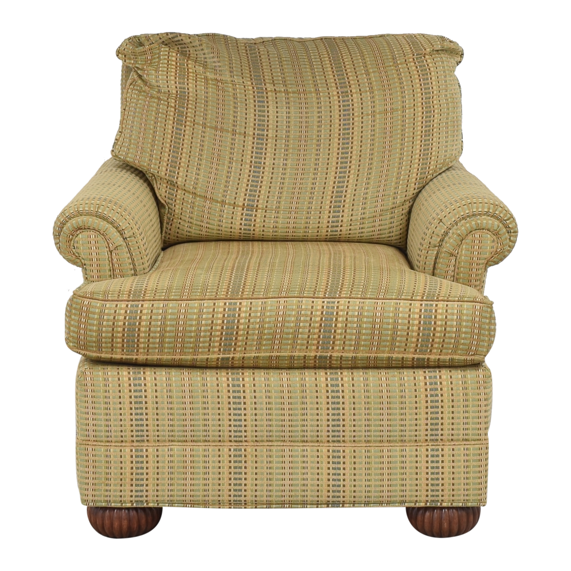 Ethan Allen Ethan Allen Striped Accent Chair dimensions