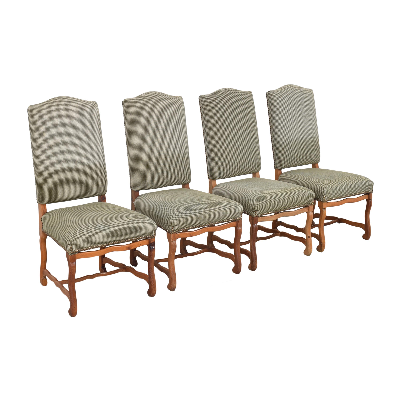 Ralph Lauren Home Ralph Lauren Home Os De Mouton Style Dining Chairs green & brown