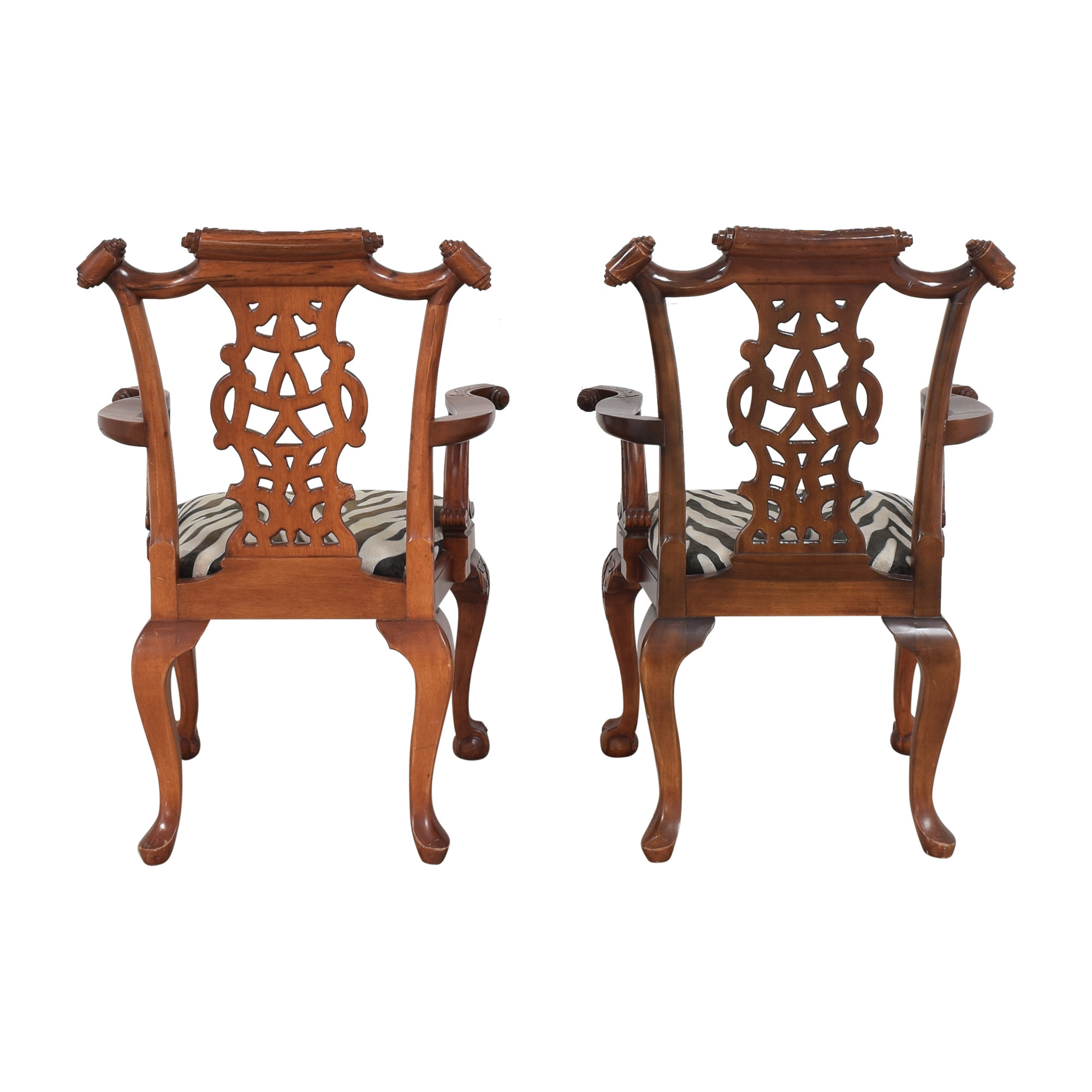 shop Animal Print Upholstered Dining Arm Chairs  Dining Chairs