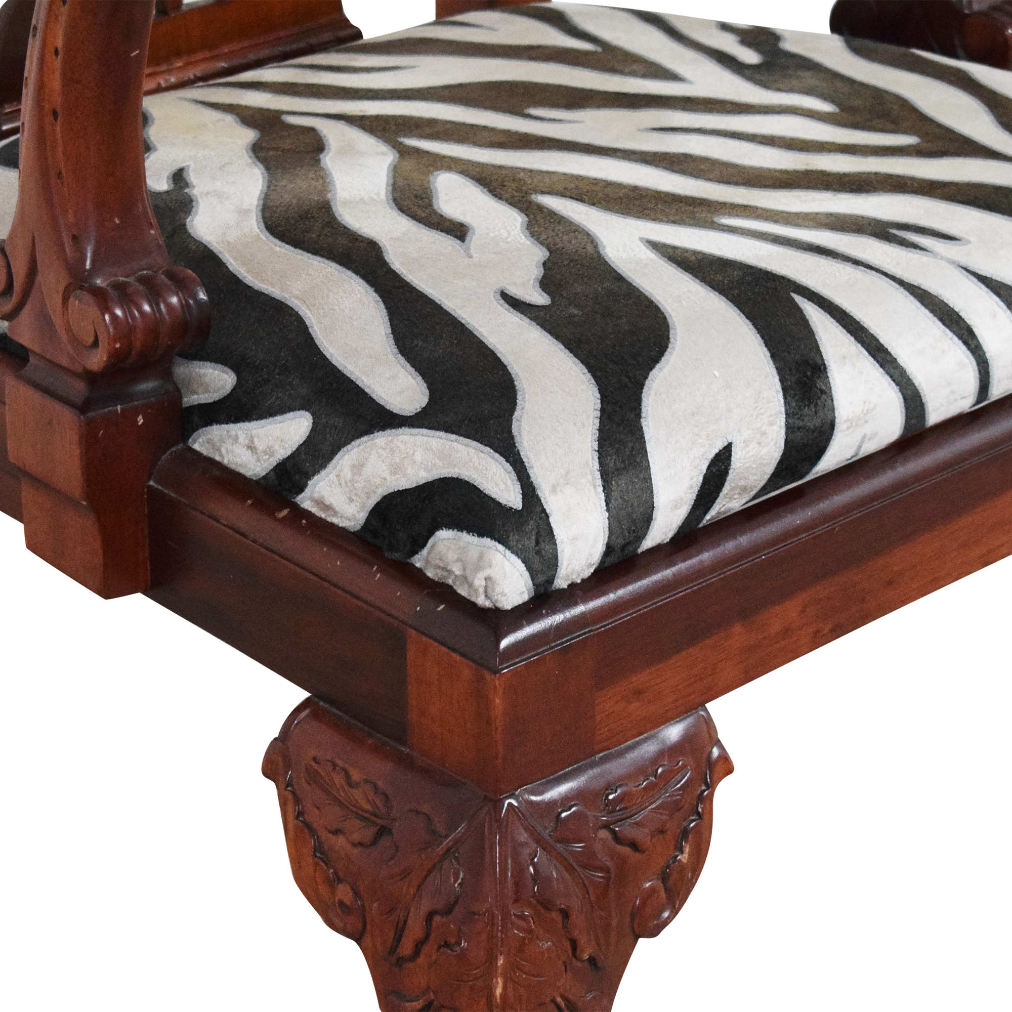 Animal Print Upholstered Dining Arm Chairs for sale