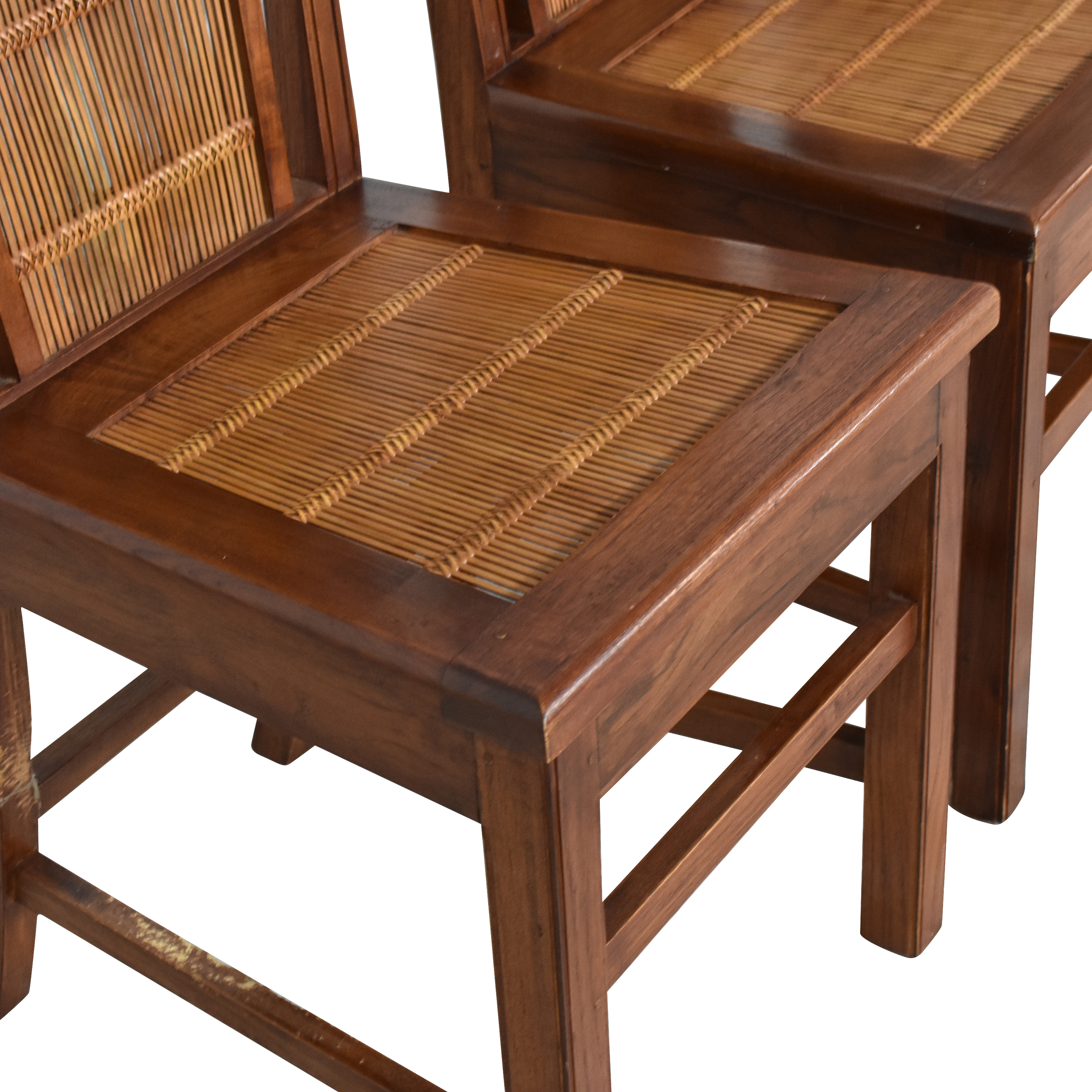 Woven Back Dining Side Chairs ma