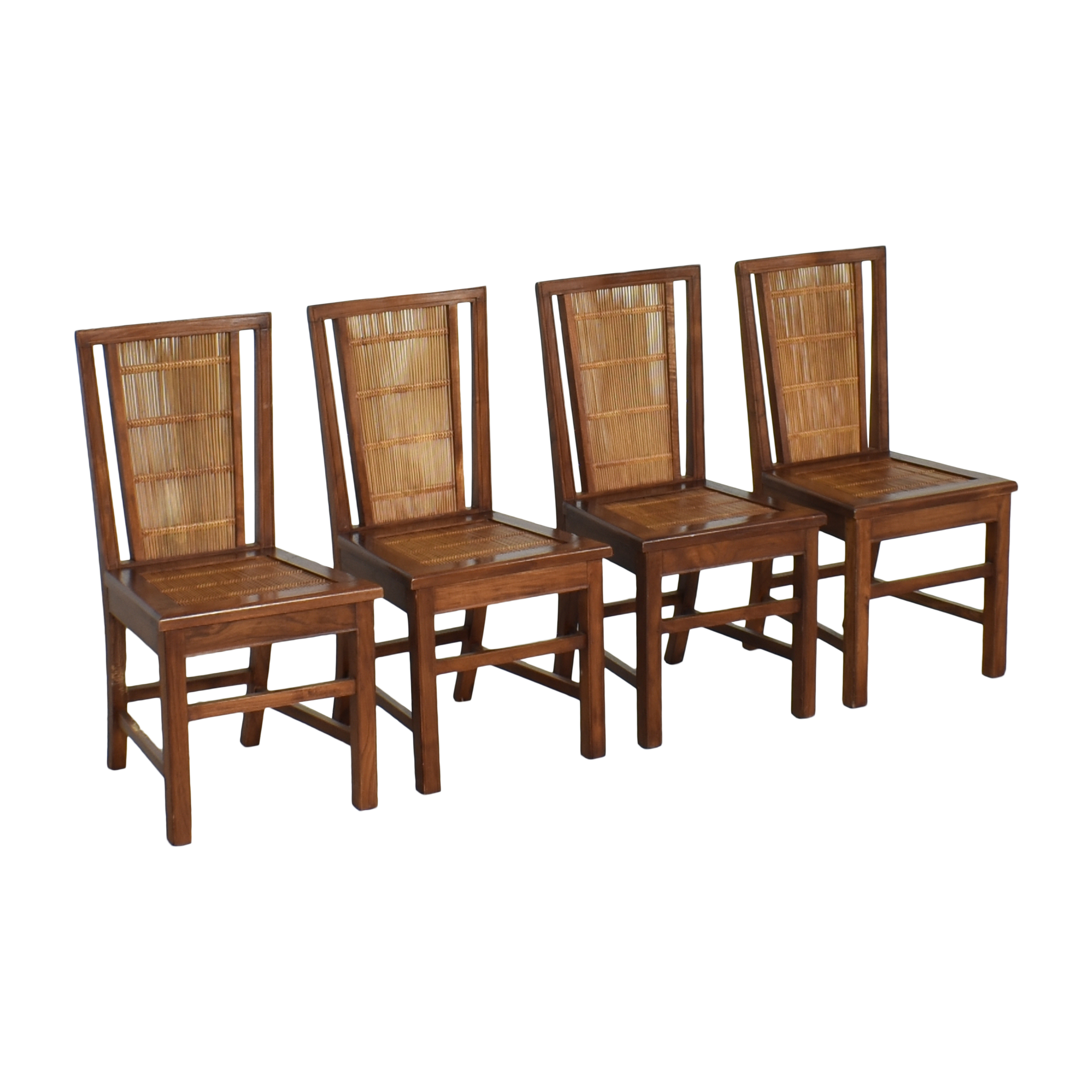 Woven Back Dining Side Chairs for sale