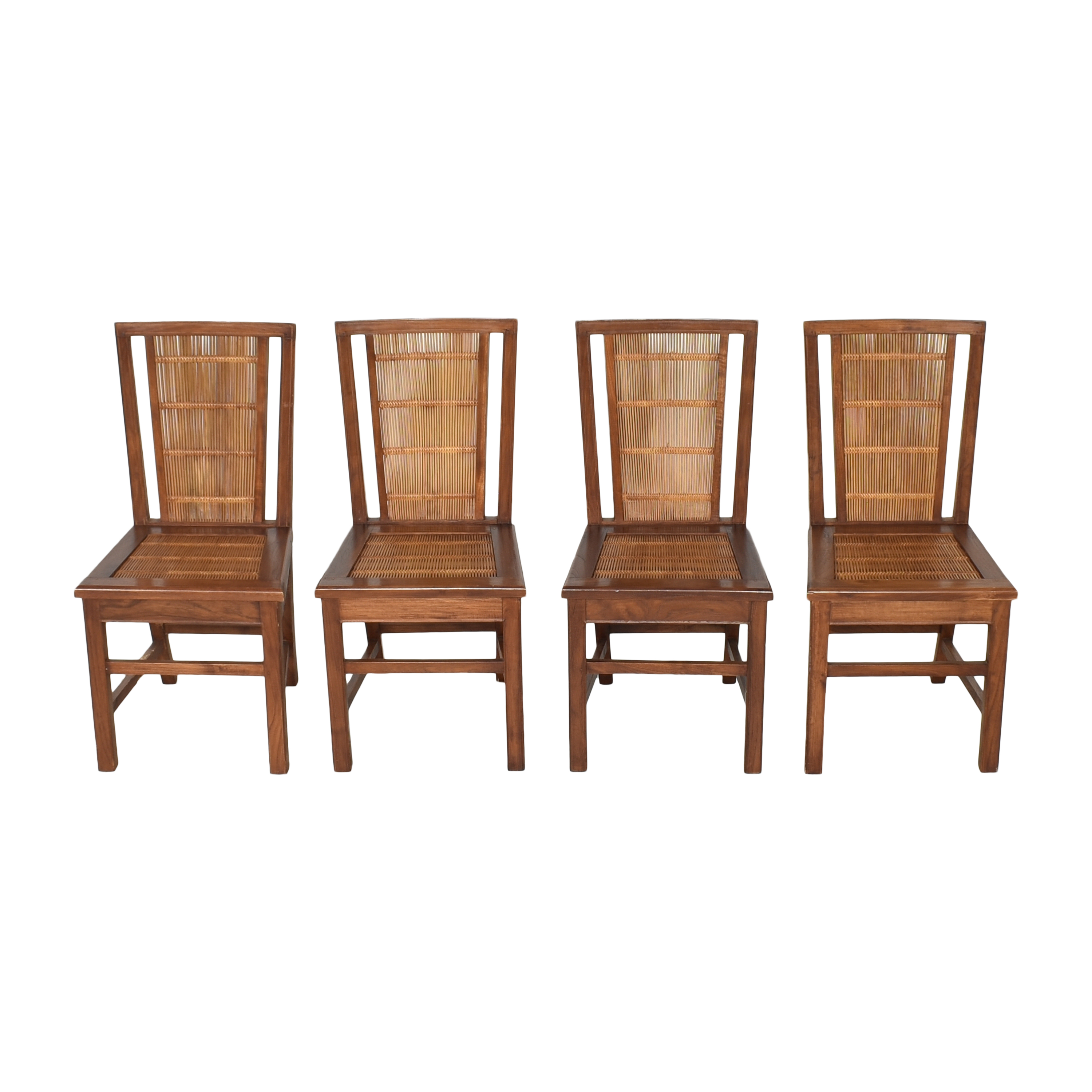buy Woven Back Dining Side Chairs  Dining Chairs