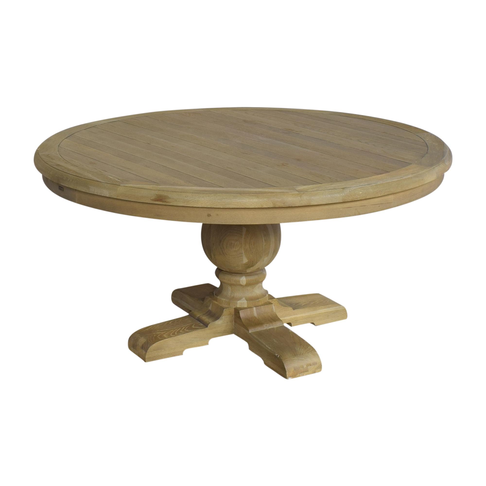 Zin Home Kingdom Round Pedestal Dining Table sale