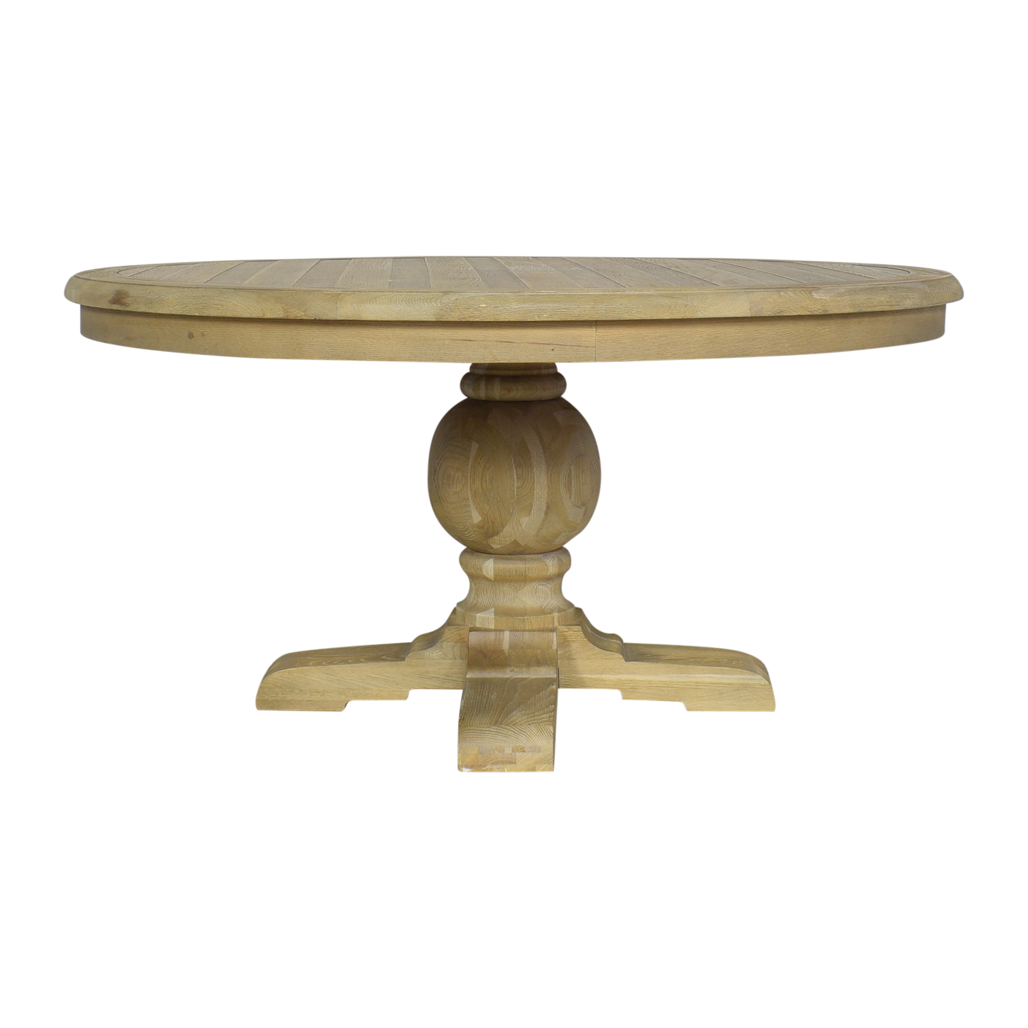 Zin Home Zin Home Kingdom Round Pedestal Dining Table gray