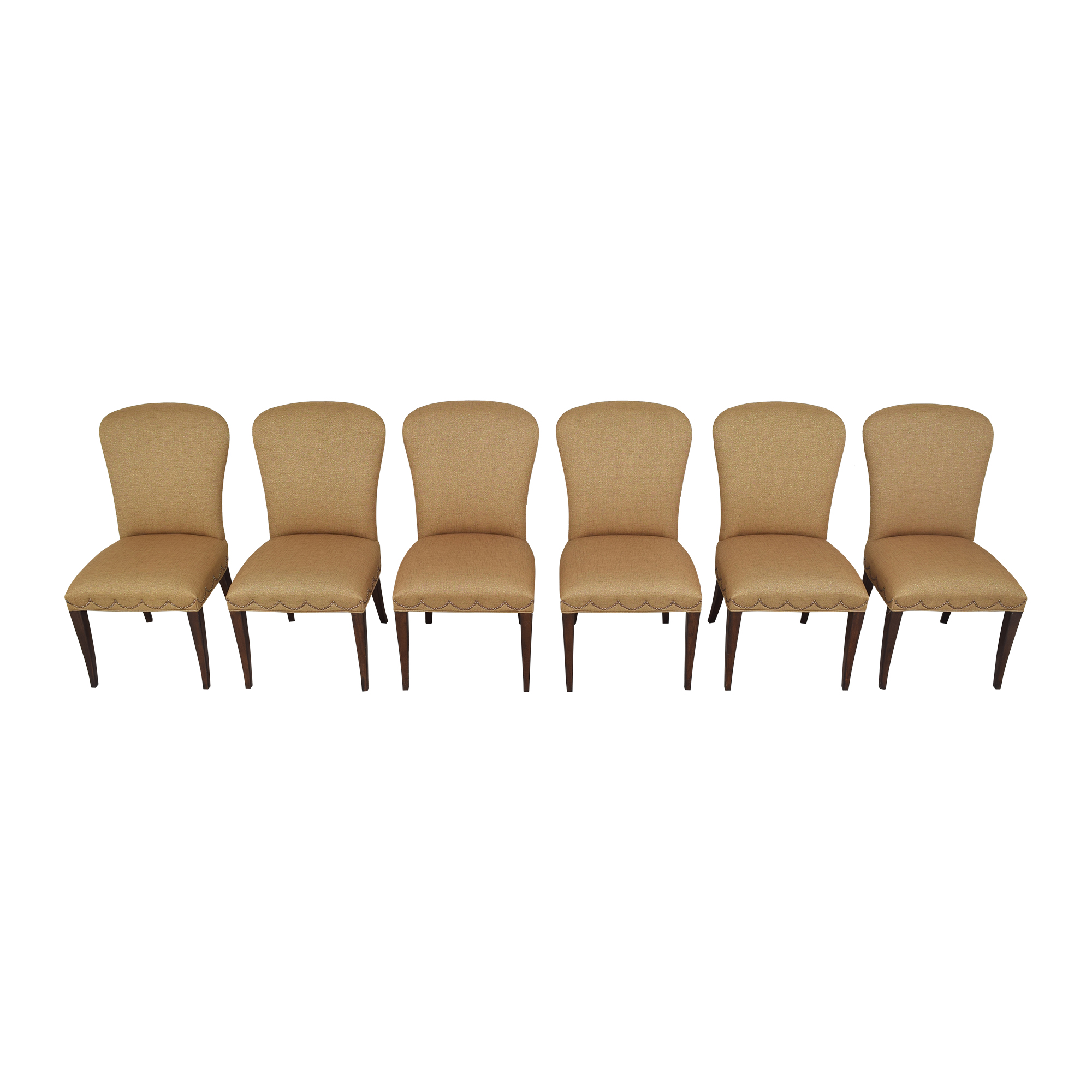 Furniture Brands International Furniture Brands International Scalloped Nailhead Dining Chairs for sale