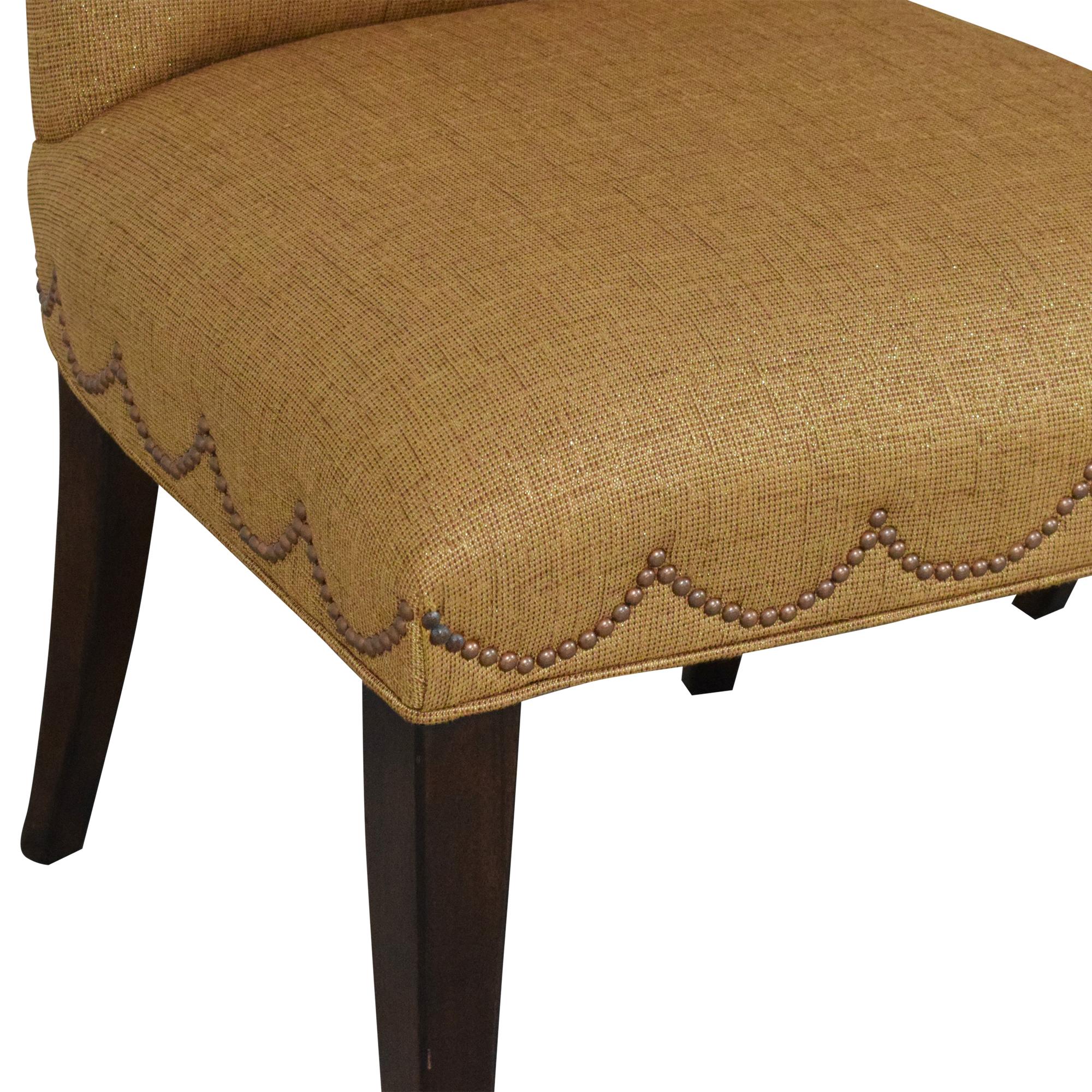 Furniture Brands International Furniture Brands International Scalloped Nailhead Dining Chairs nyc
