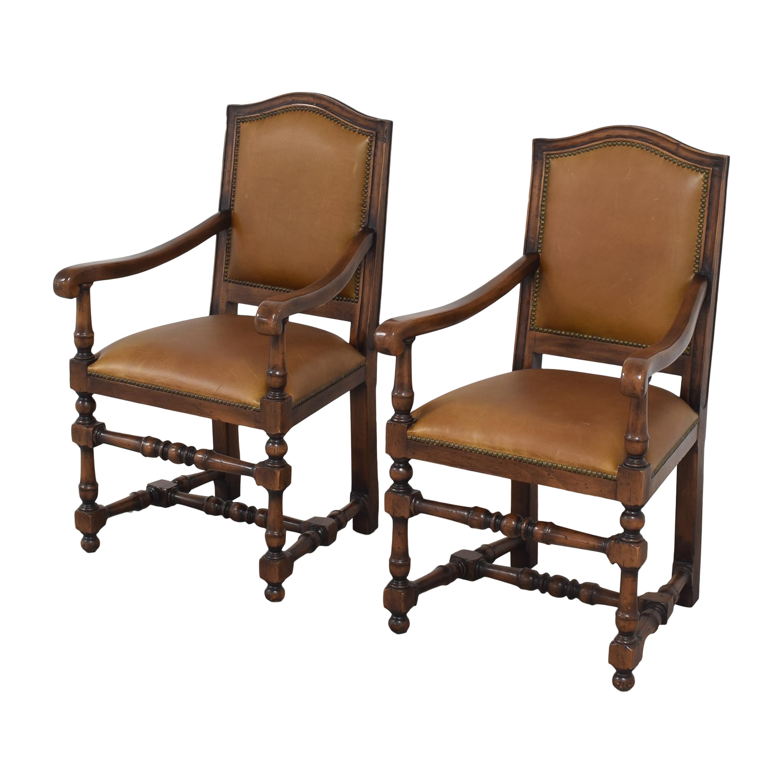 Ethan Allen Ethan Allen Dining Arm Chairs brown