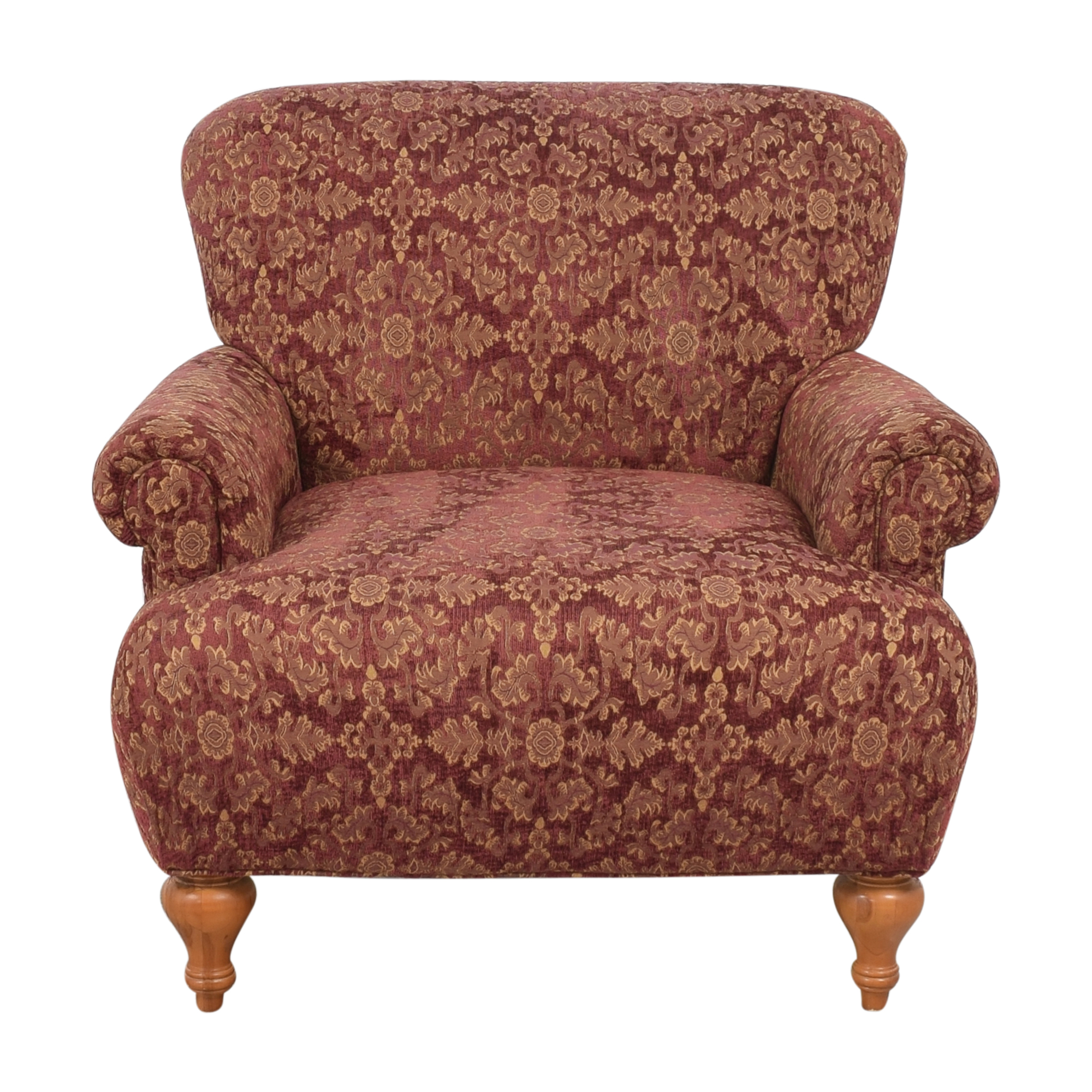 Roll Arm Accent Chair used