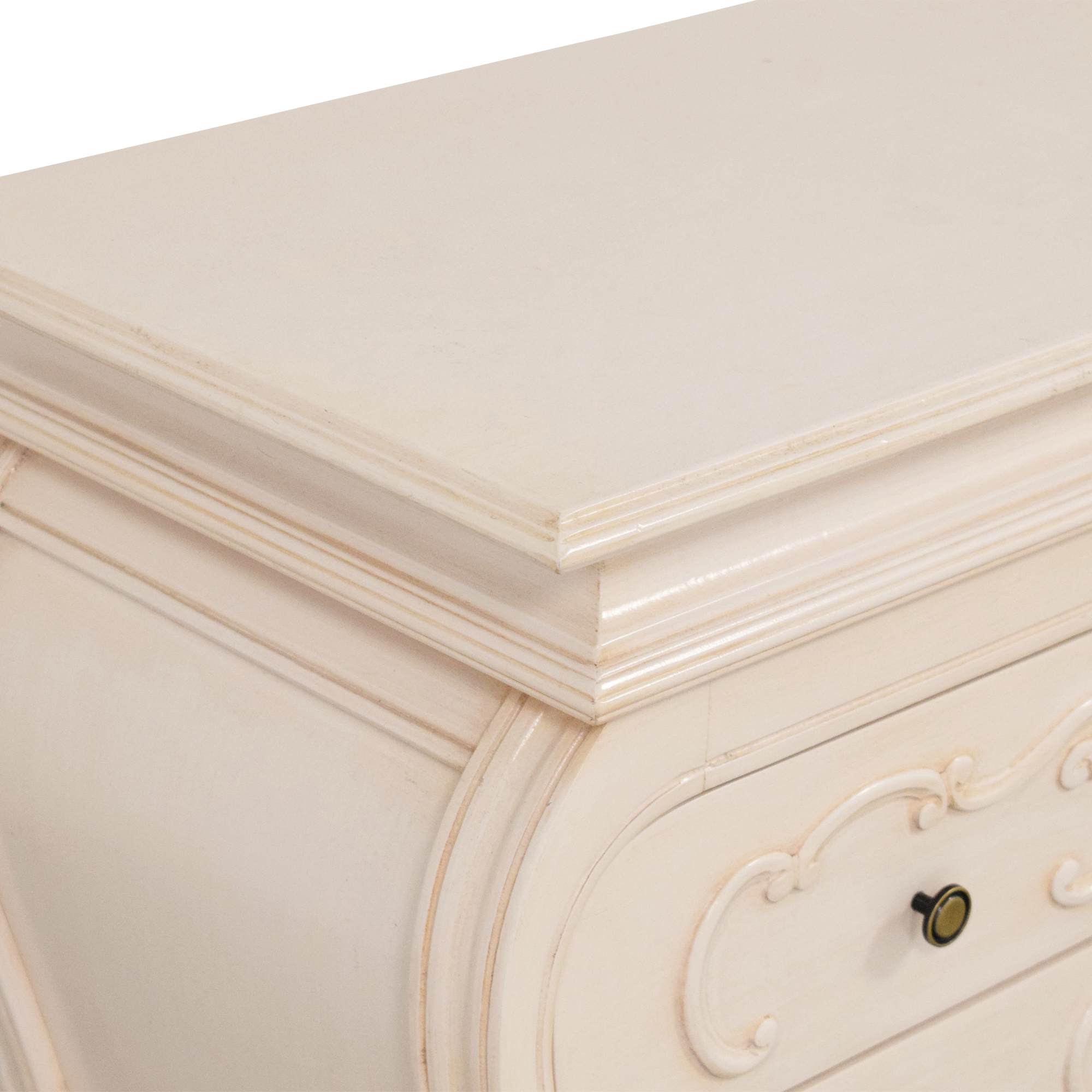 Two Drawer Bombe Nightstands / End Tables