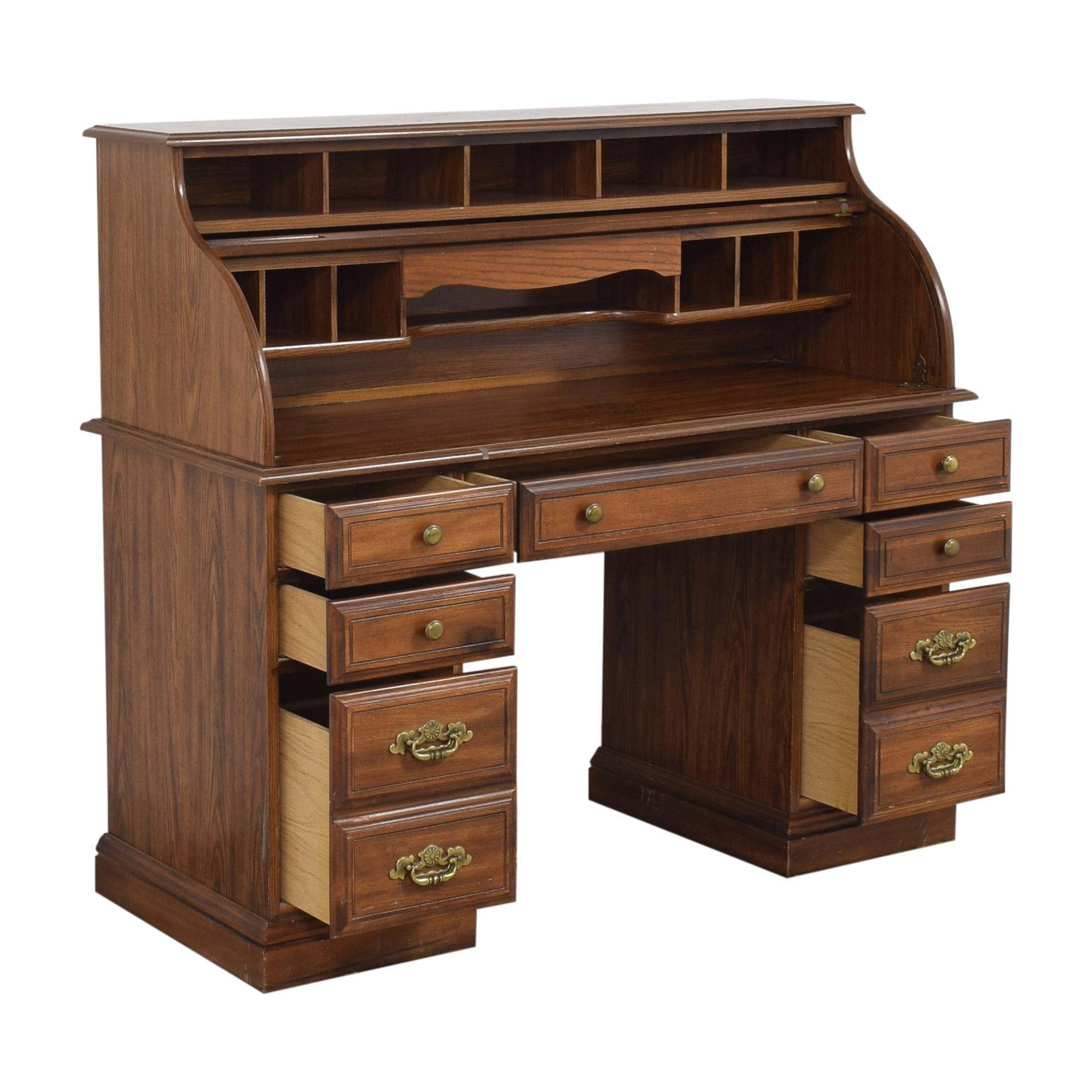 shop Roll Top Double Pedestal Desk