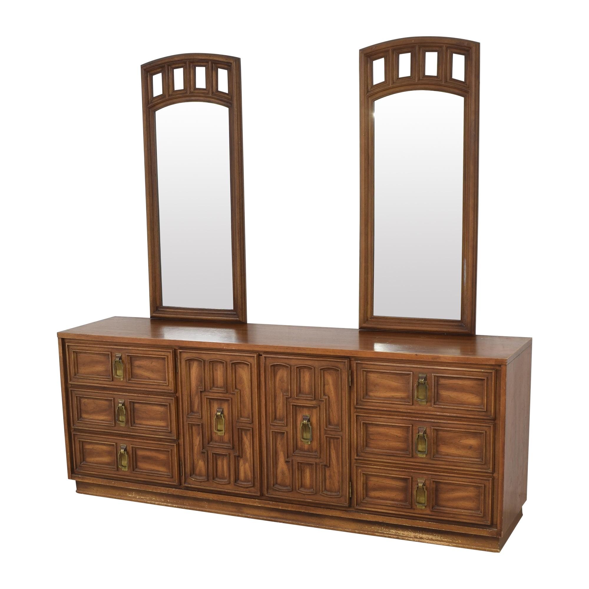 shop Stanley Furniture Triple Dresser with Mirrors Stanley Furniture Storage