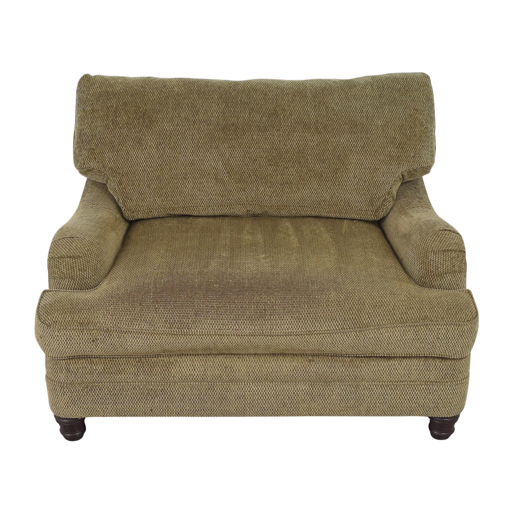 shop Bernhardt English Roll Arm Chair and a Half Bernhardt Chairs
