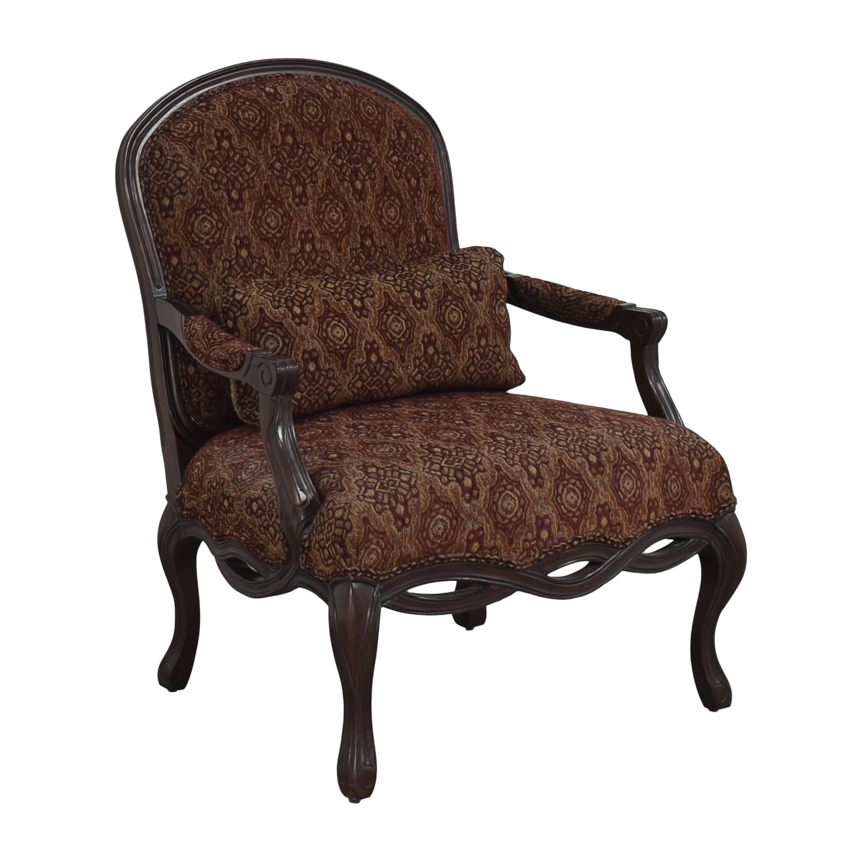 Bernhardt Bernhardt Upholstered Arm Chair brown and dark red