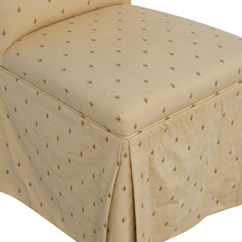 Ballard Designs Ballard Designs Fleur De Lis Parsons Dining Chairs for sale