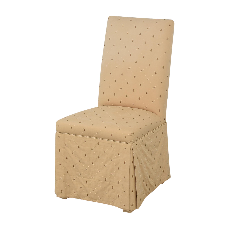 Ballard Designs Ballard Designs Fleur De Lis Parsons Dining Chairs dimensions