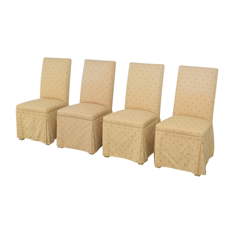 shop Ballard Designs Fleur De Lis Parsons Dining Chairs Ballard Designs Chairs