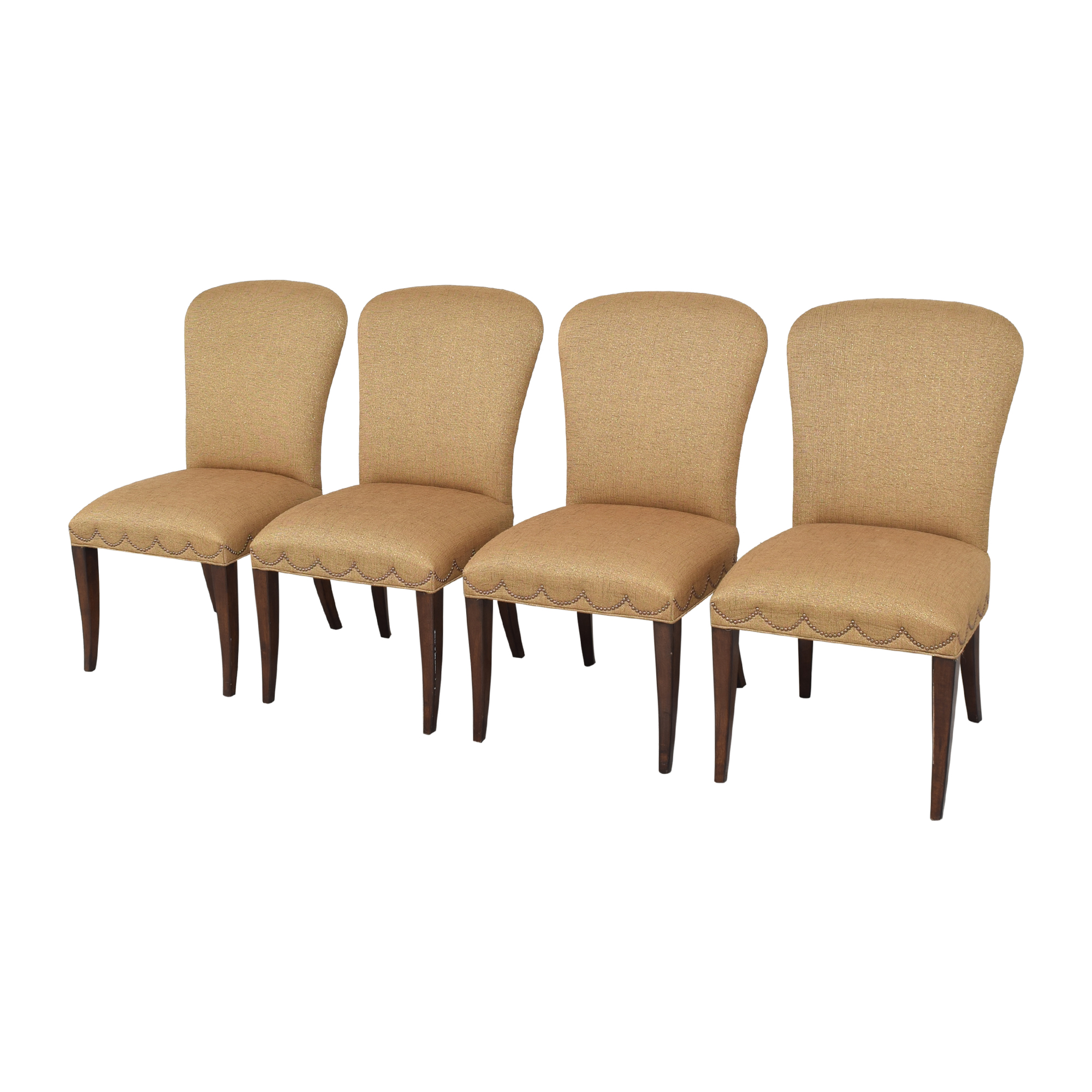shop Furniture Brands International Scalloped Nailhead Dining Chairs Furniture Brands International Dining Chairs