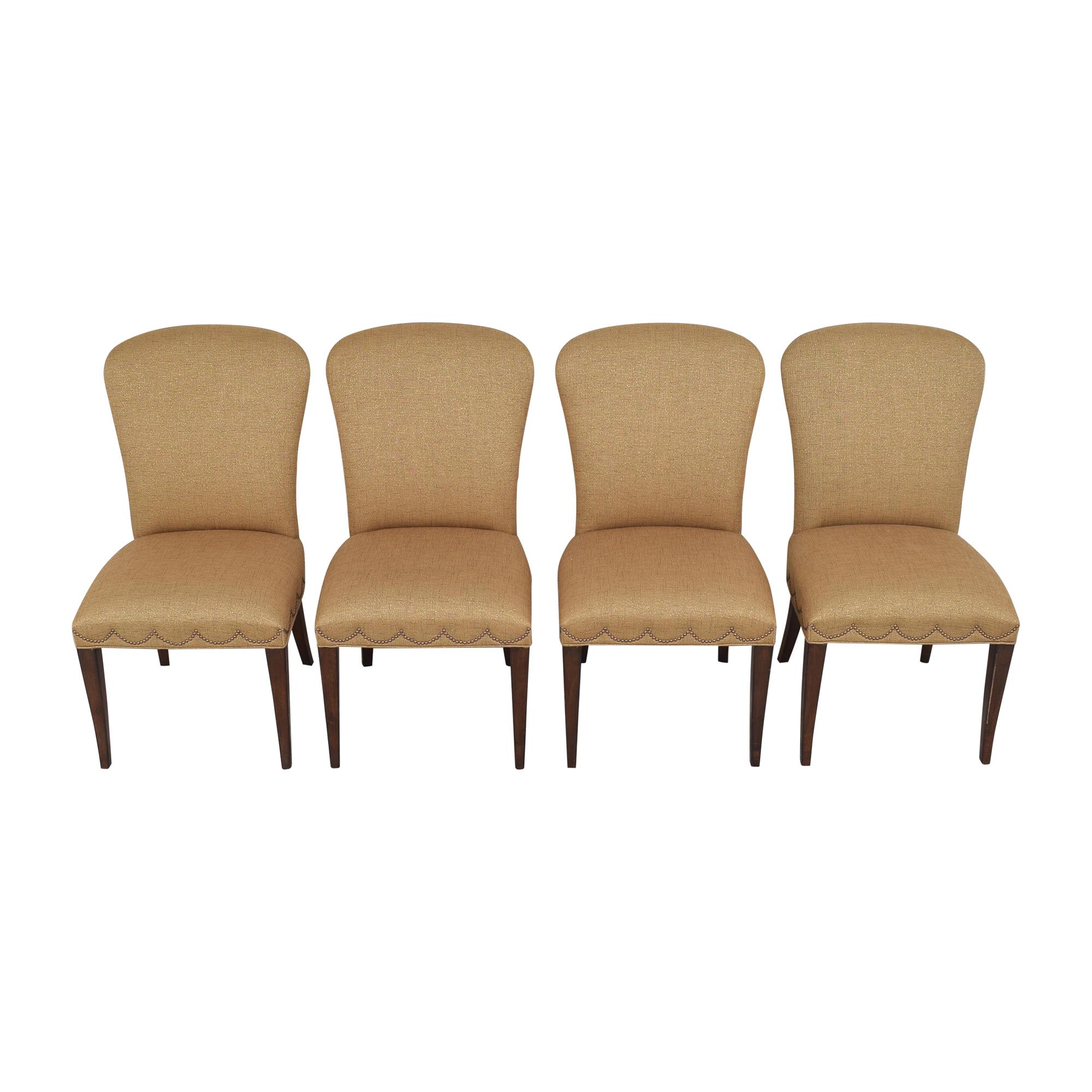 Furniture Brands International Furniture Brands International Scalloped Nailhead Dining Chairs Chairs
