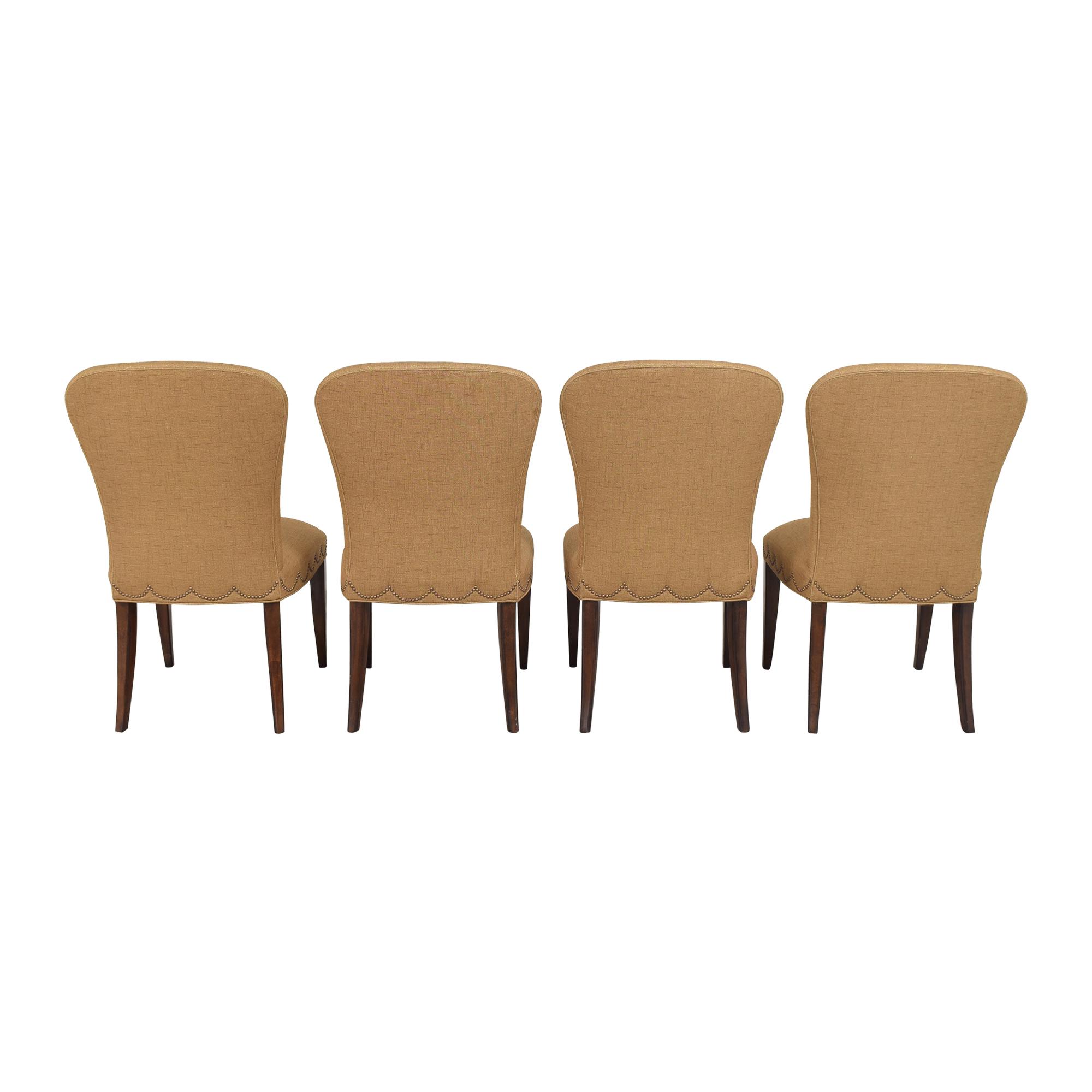 shop Furniture Brands International Scalloped Nailhead Dining Chairs Furniture Brands International Chairs