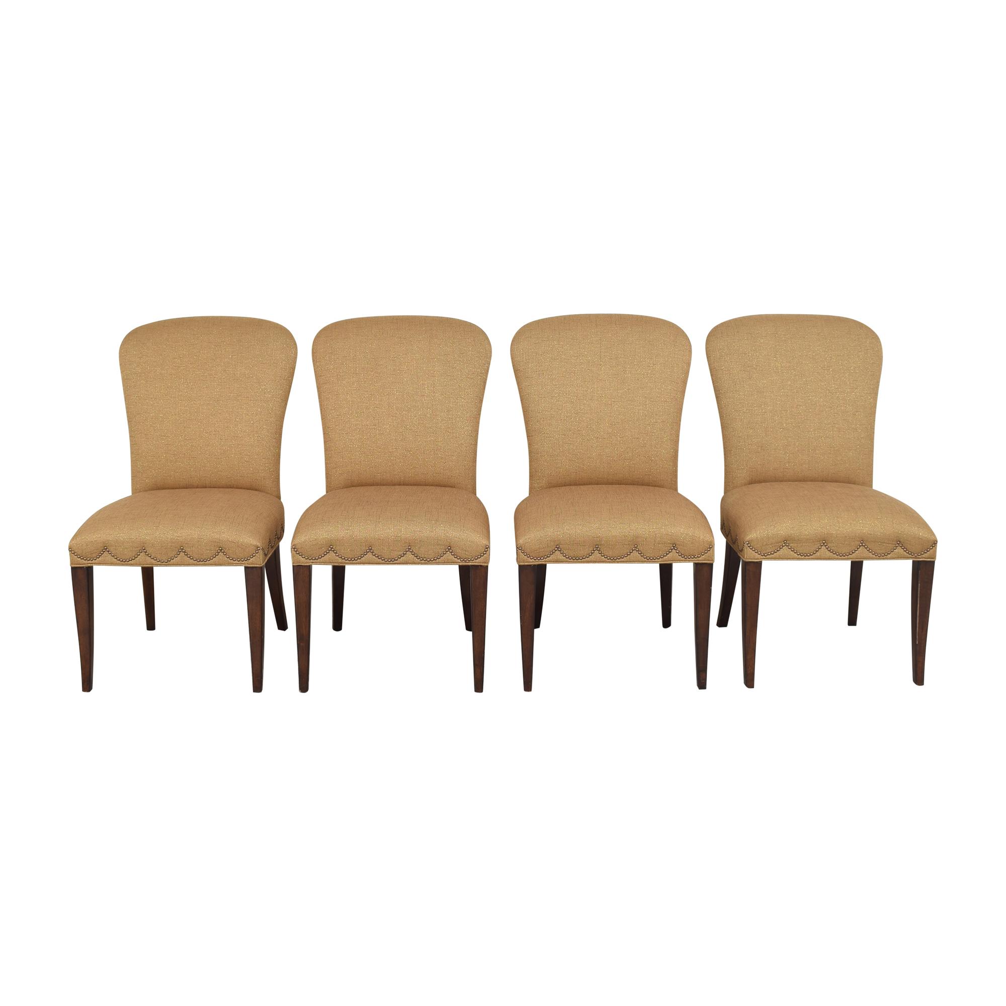 Furniture Brands International Furniture Brands International Scalloped Nailhead Dining Chairs second hand