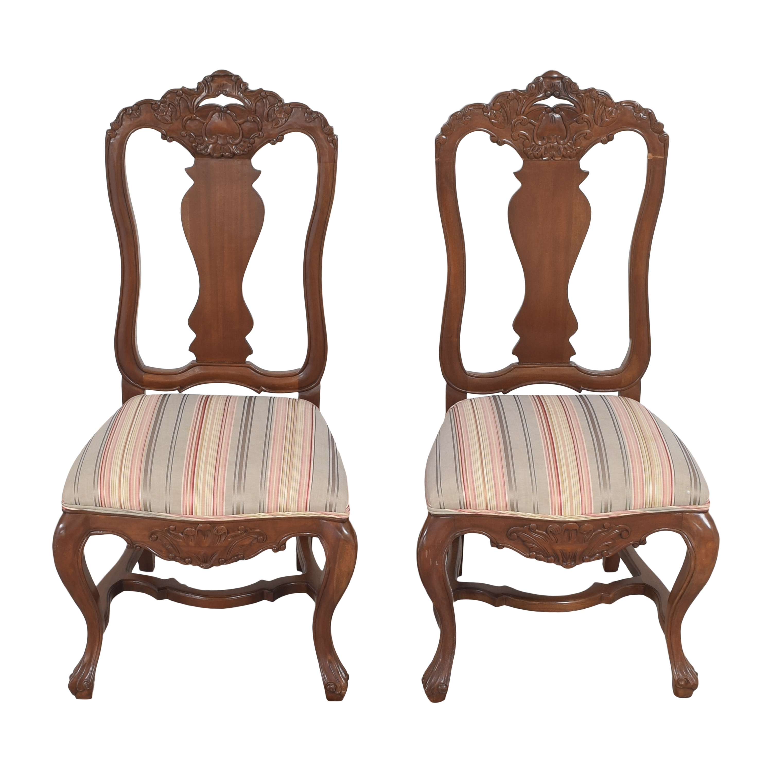 Andre Originals Stripe Upholstered Dining Chairs Andre Originals