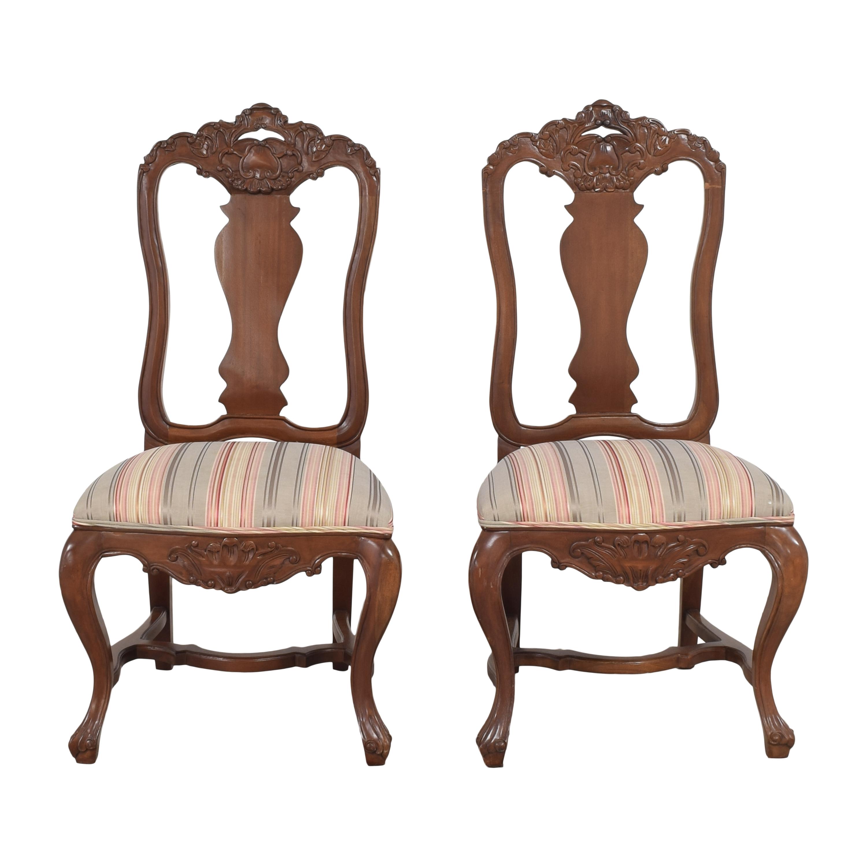 Andre Originals Andre Originals Stripe Upholstered Dining Chairs nj
