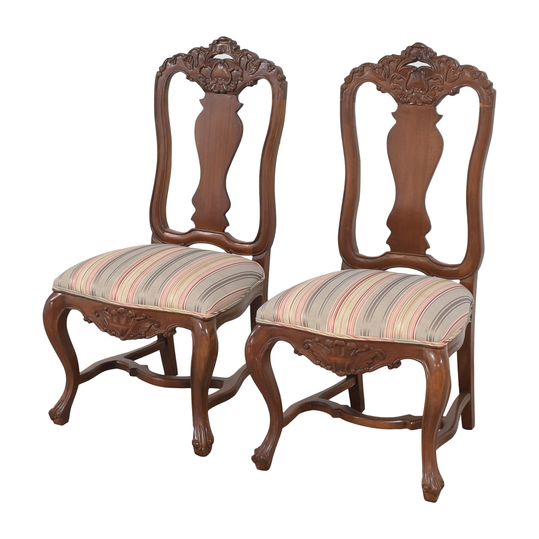 shop Andre Originals Stripe Upholstered Dining Chairs Andre Originals Chairs