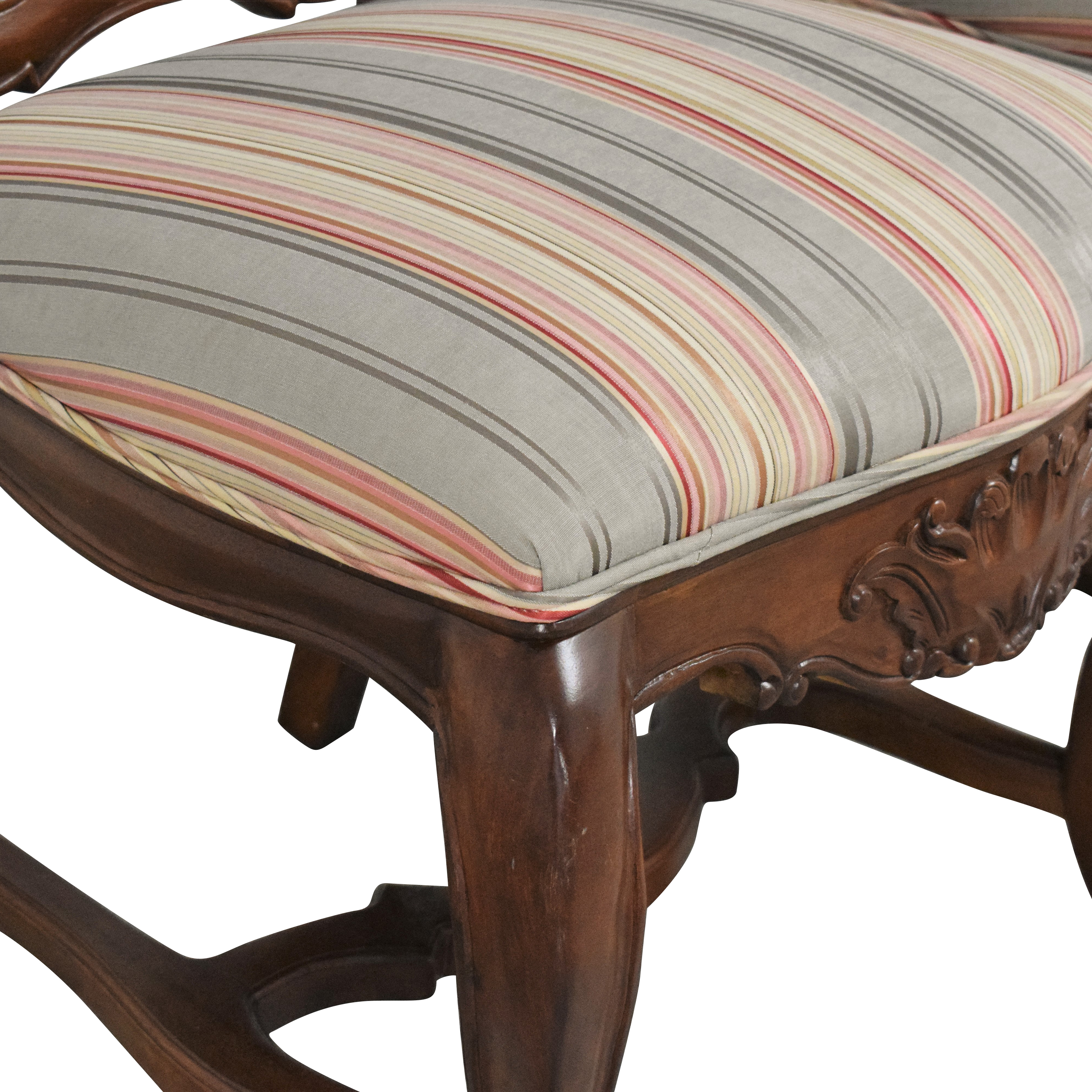 Andre Originals Andre Originals Stripe Upholstered Dining Chairs multi