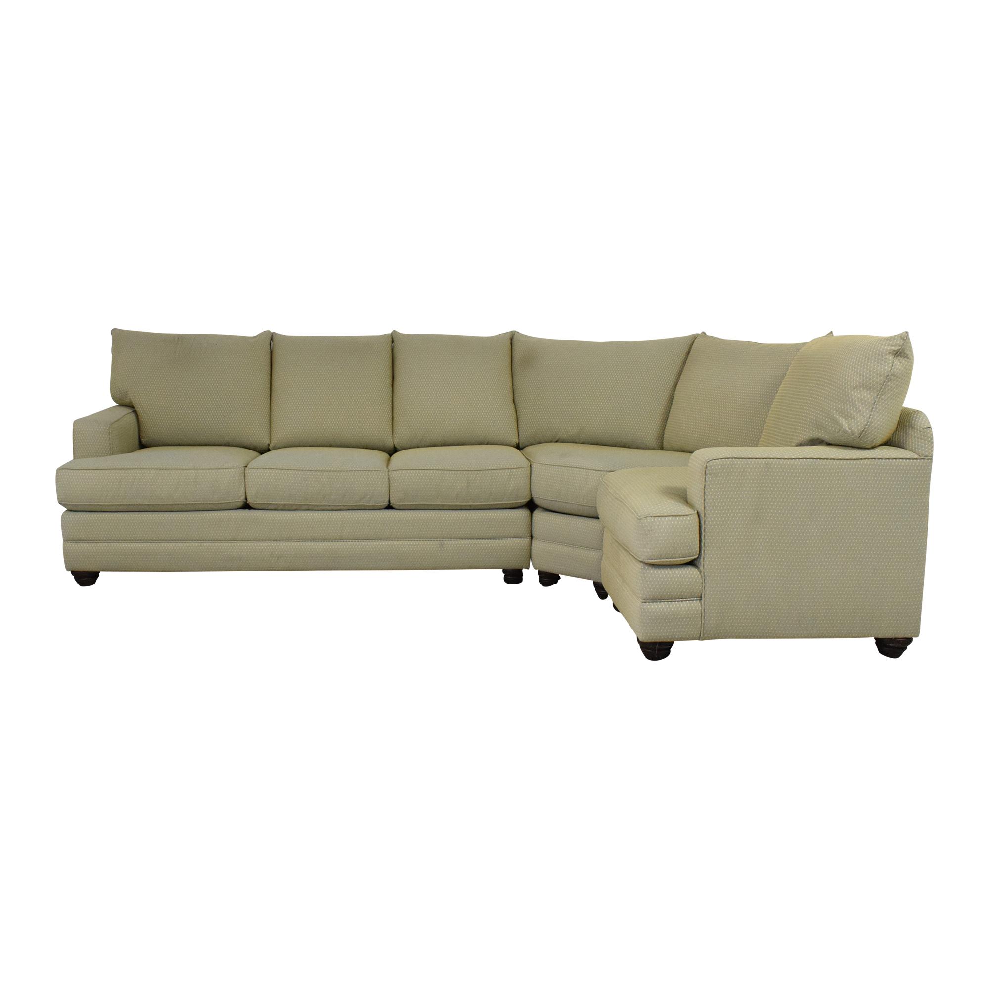 Bassett Furniture Corner Sectional Sofa sale