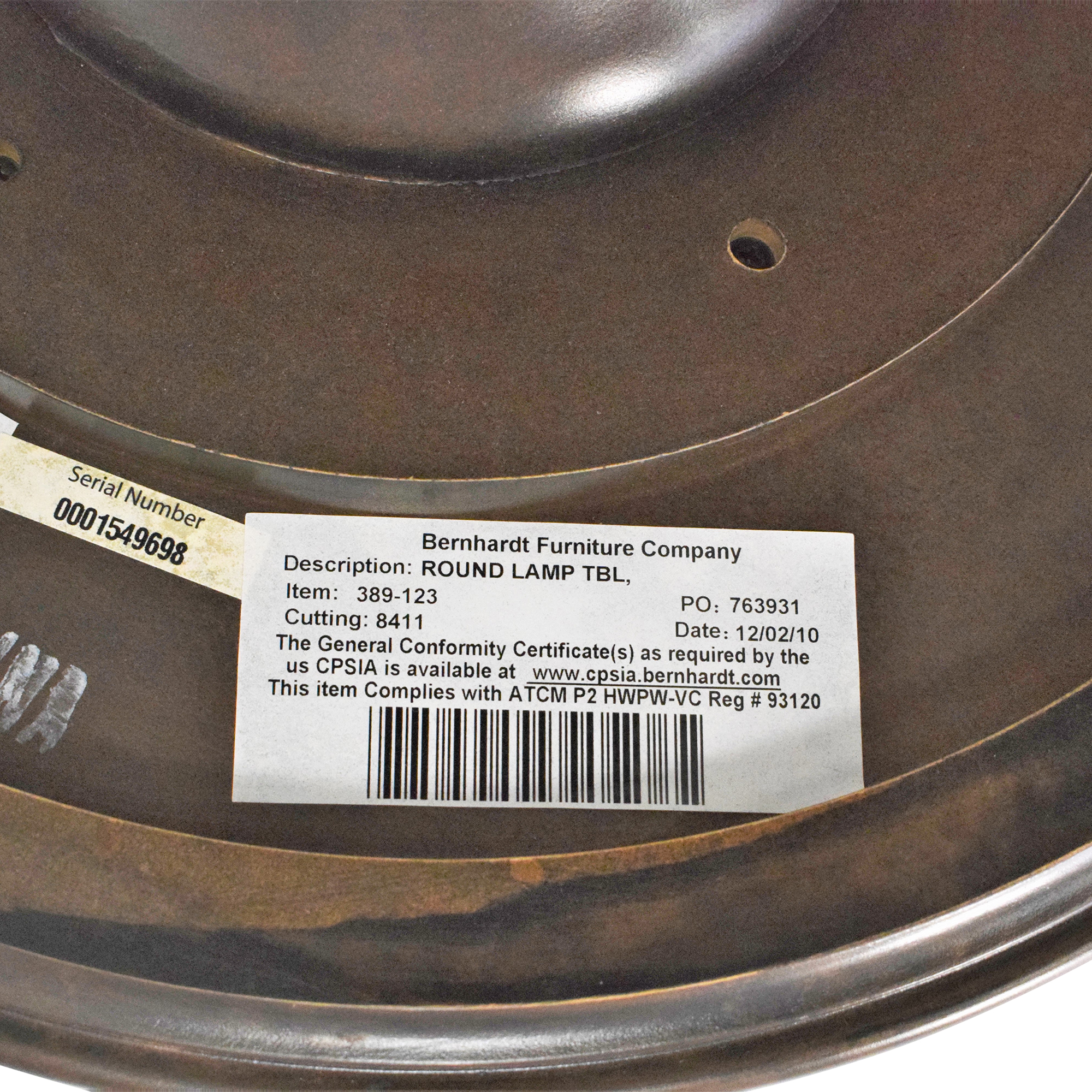 Bernhardt Round Lamp Table Bernhardt