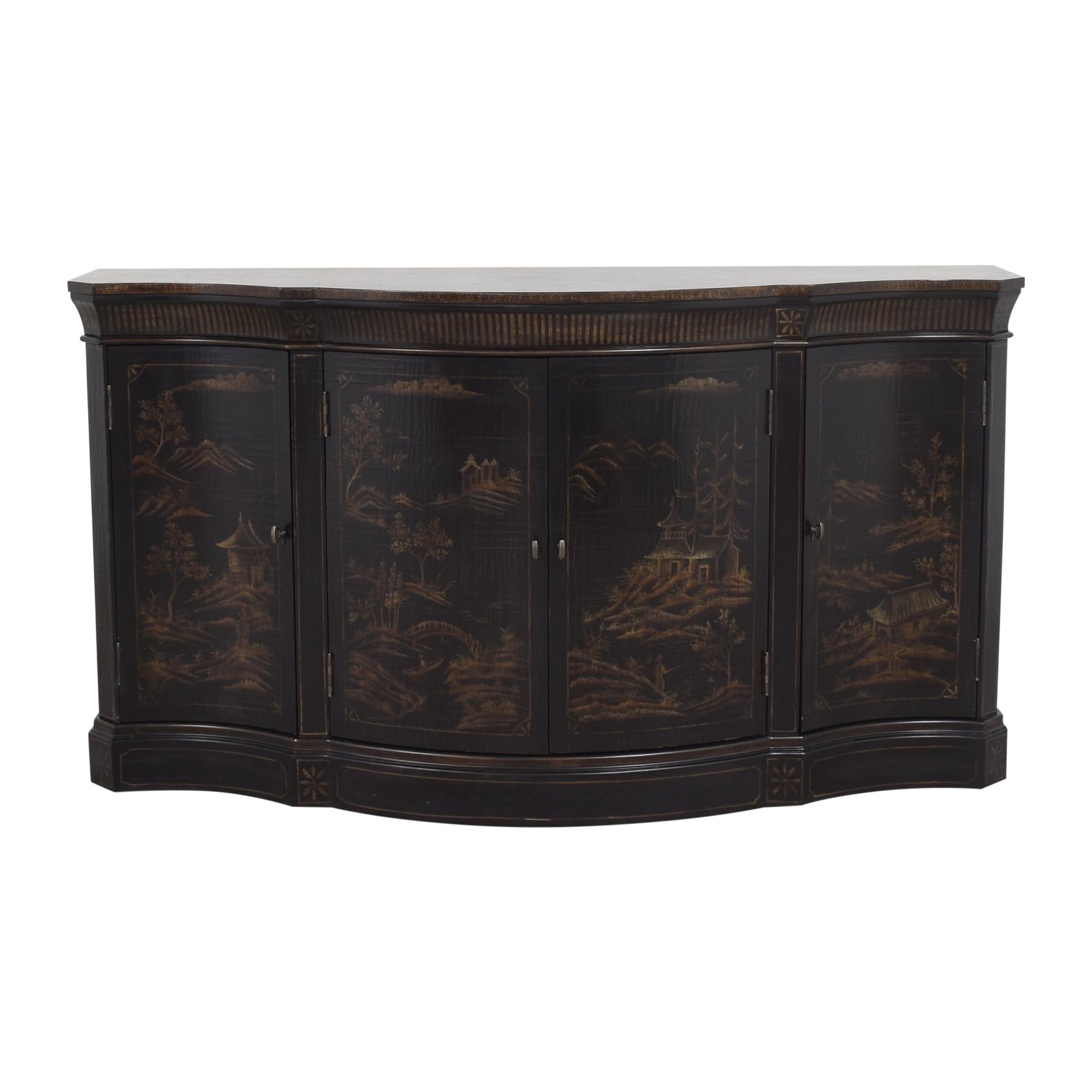 shop Ethan Allen Vivianne Serpentine Console Ethan Allen Cabinets & Sideboards