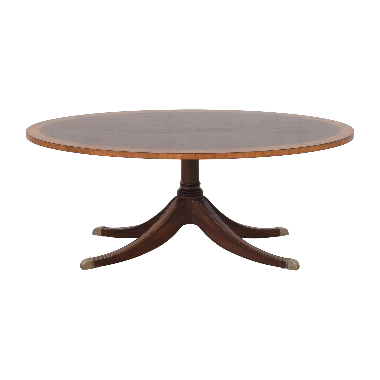 Ethan Allen Ethan Allen Thorton Oval Coffee Table on sale