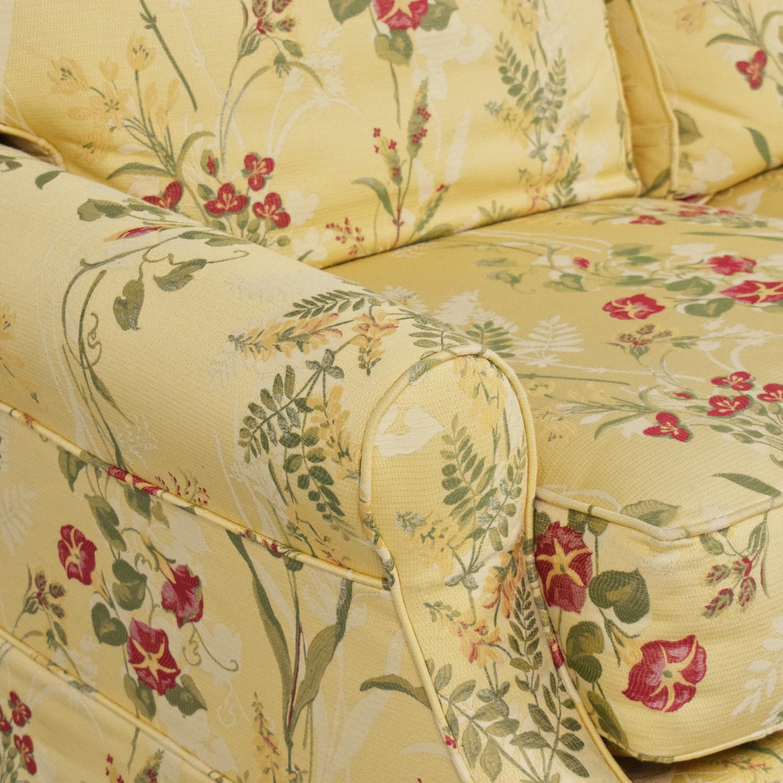 Wesley Hall Wesley Hall Skirted Floral Sofa ma