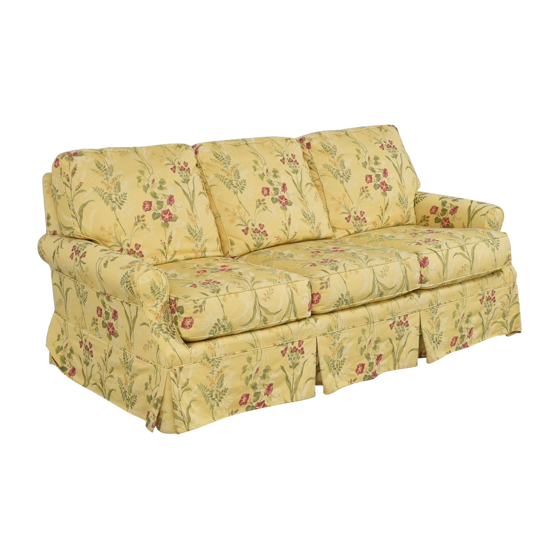 Wesley Hall Wesley Hall Skirted Floral Sofa pa