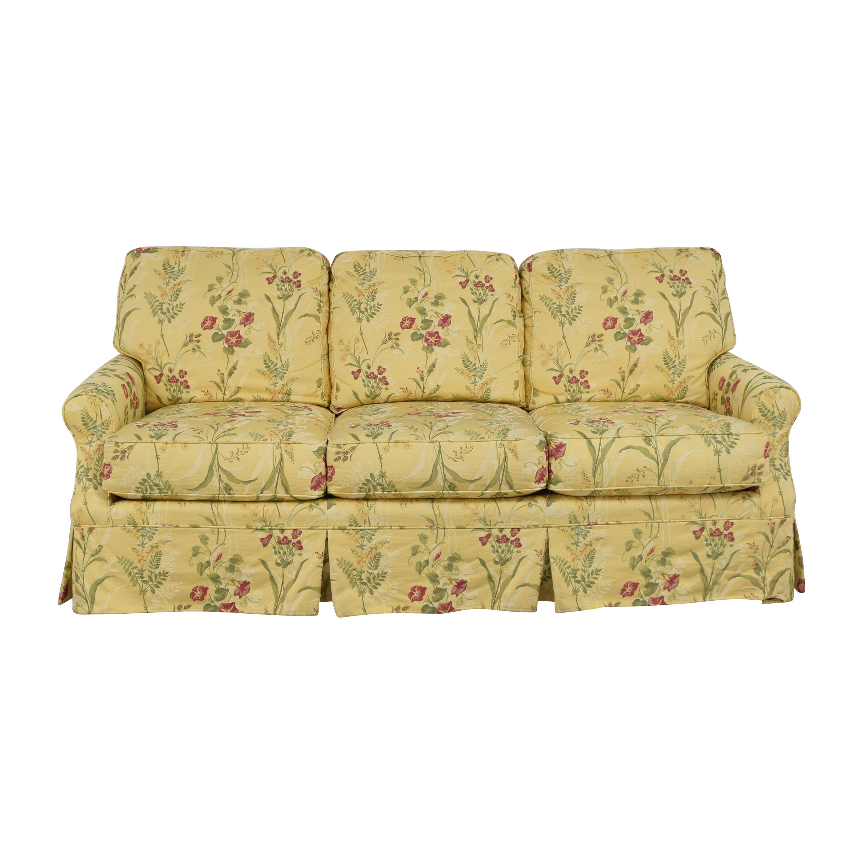 Wesley Hall Wesley Hall Skirted Floral Sofa discount